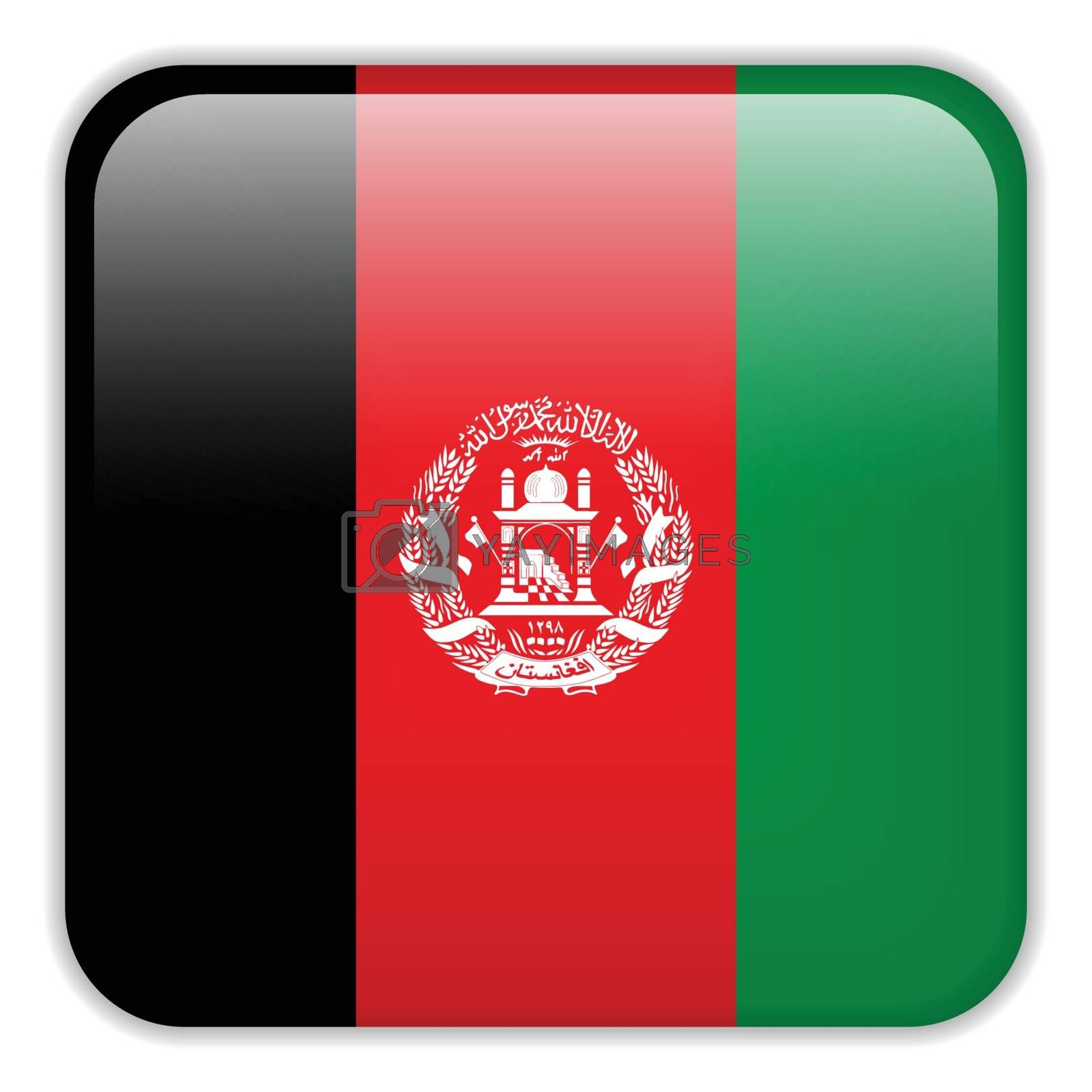 Vector - Afghanistan Flag Smartphone Application Square Buttons