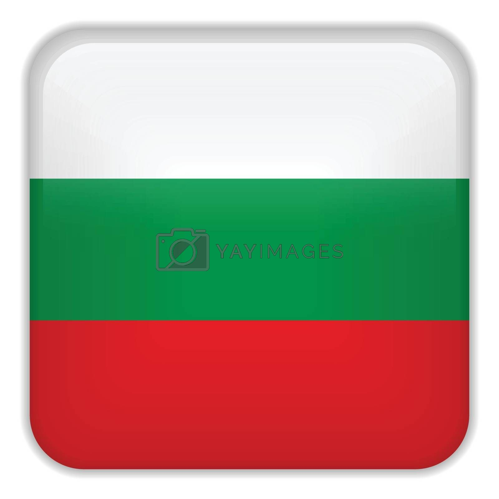 Vector - Bulgaria Flag Smartphone Application Square Buttons