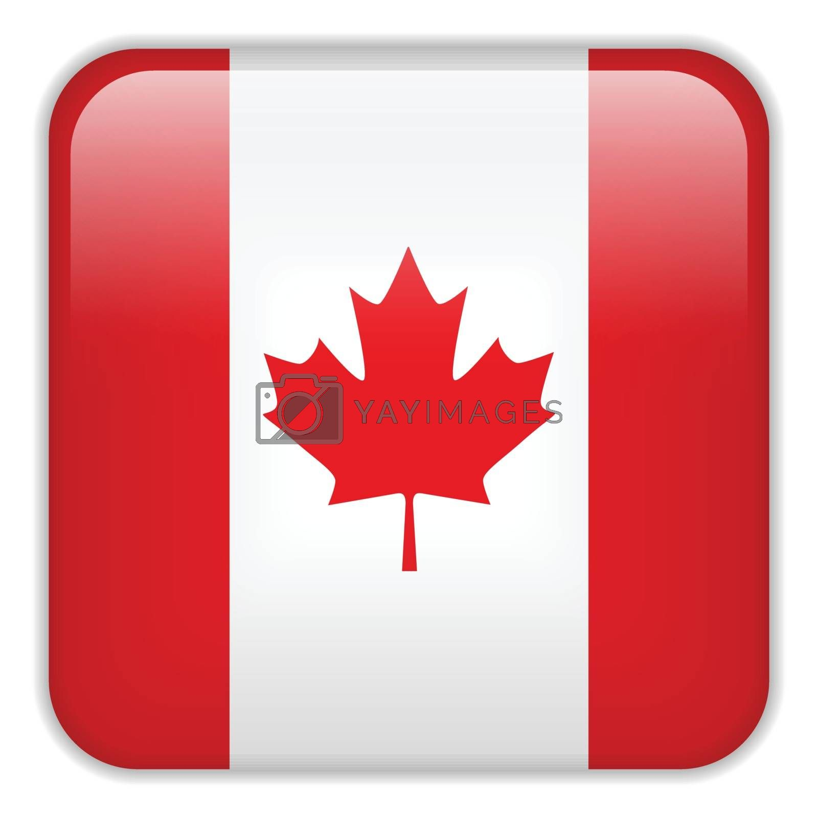 Vector - Canada Flag Smartphone Application Square Buttons