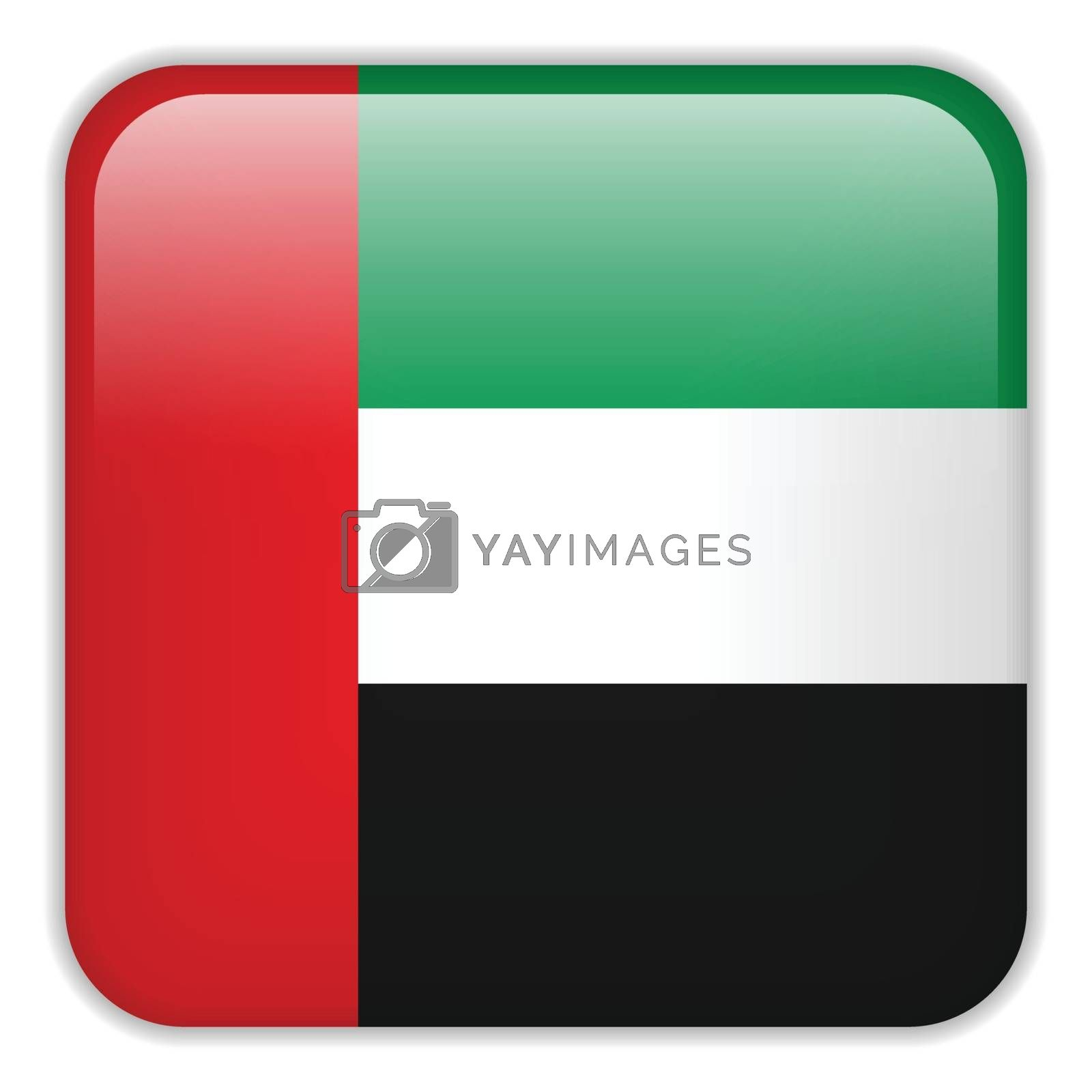 Vector - Emirates Flag Smartphone Application Square Buttons