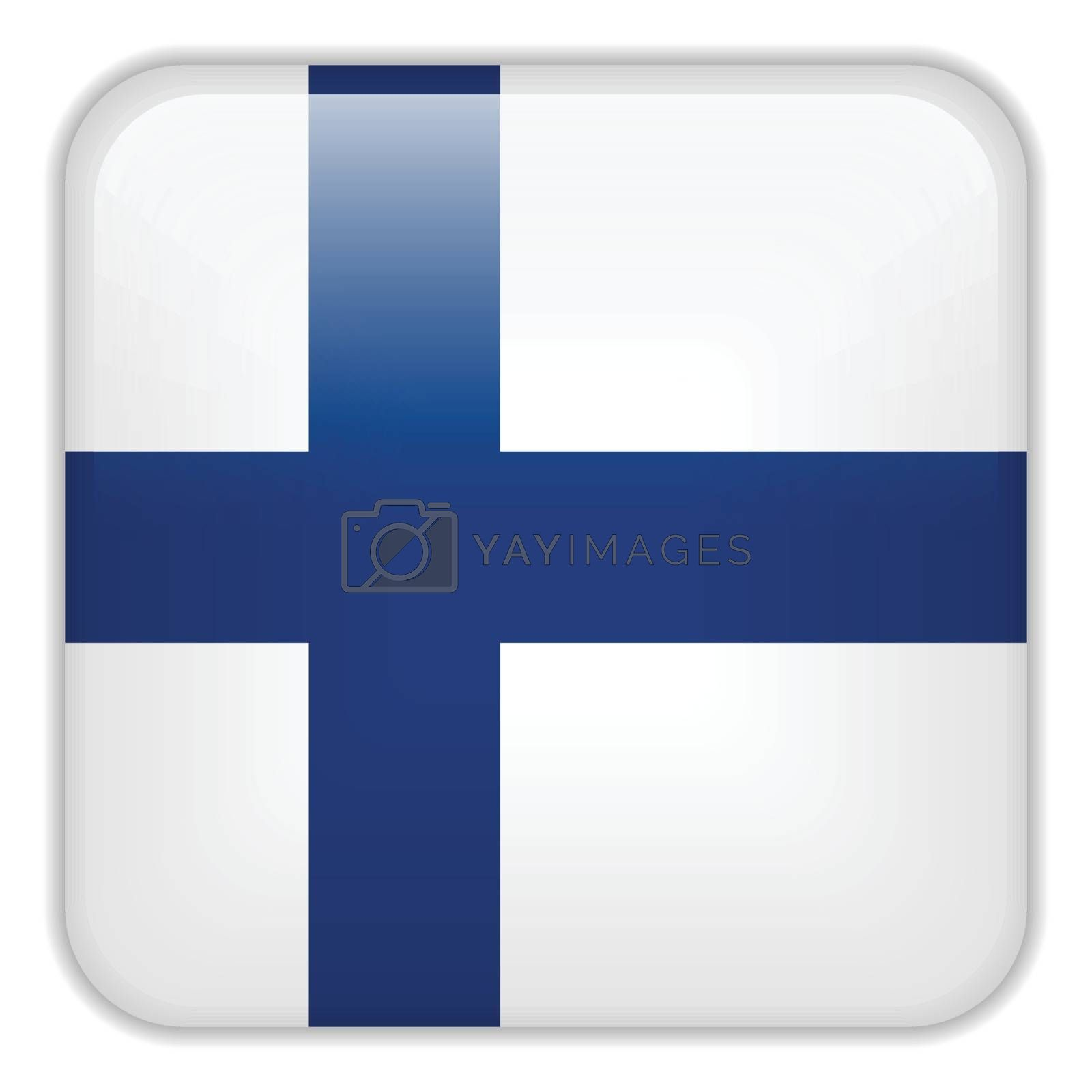 Vector - Finland Flag Smartphone Application Square Buttons