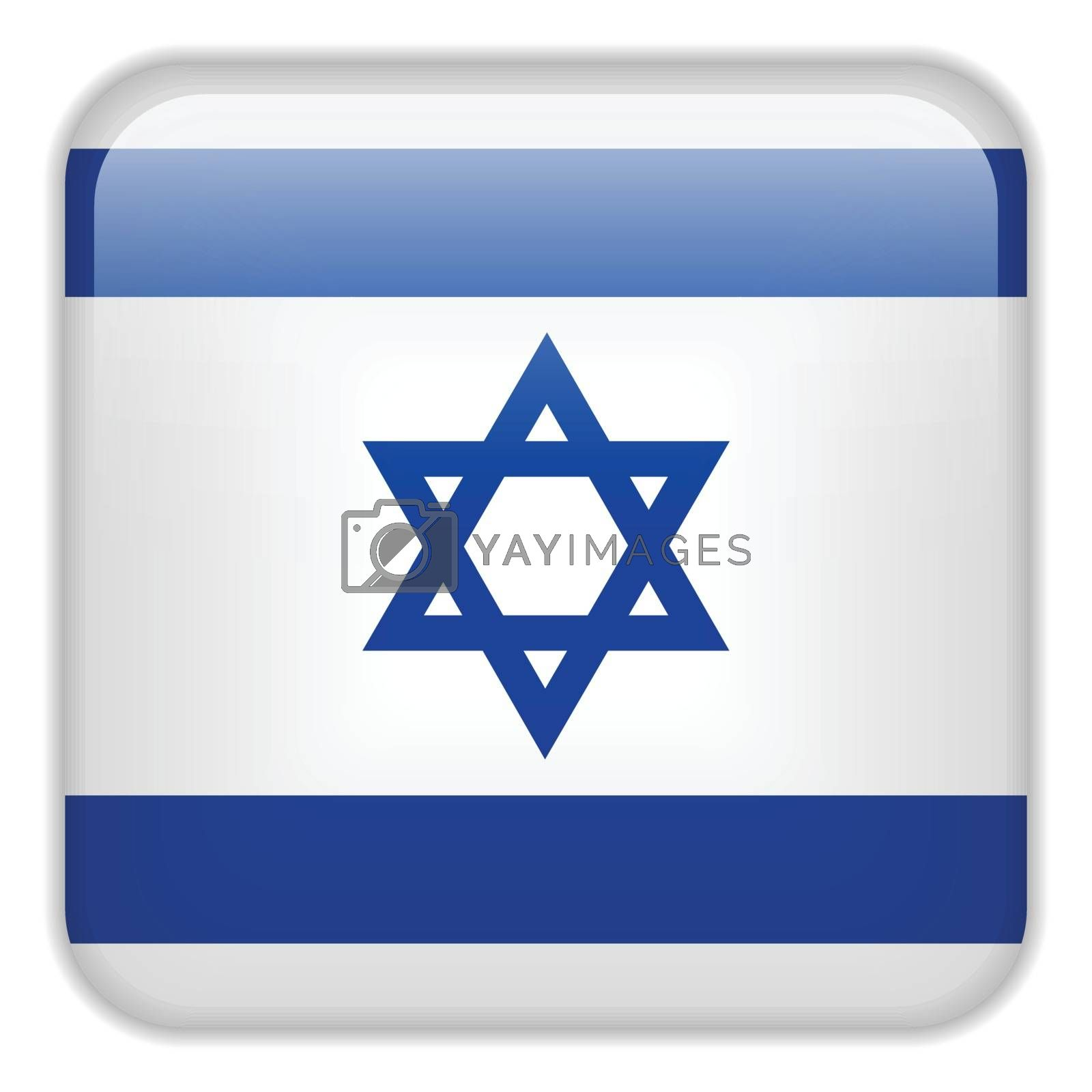 Vector - Israel Flag Smartphone Application Square Buttons