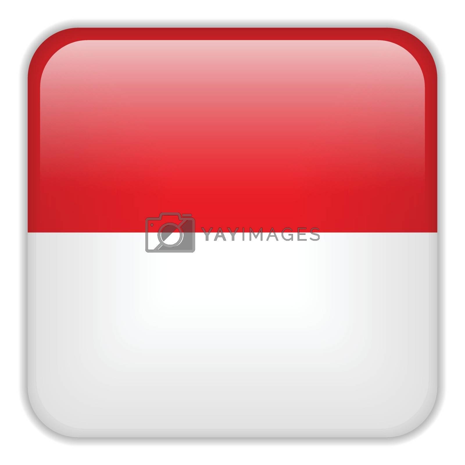 Vector - Monaco Flag Smartphone Application Square Buttons