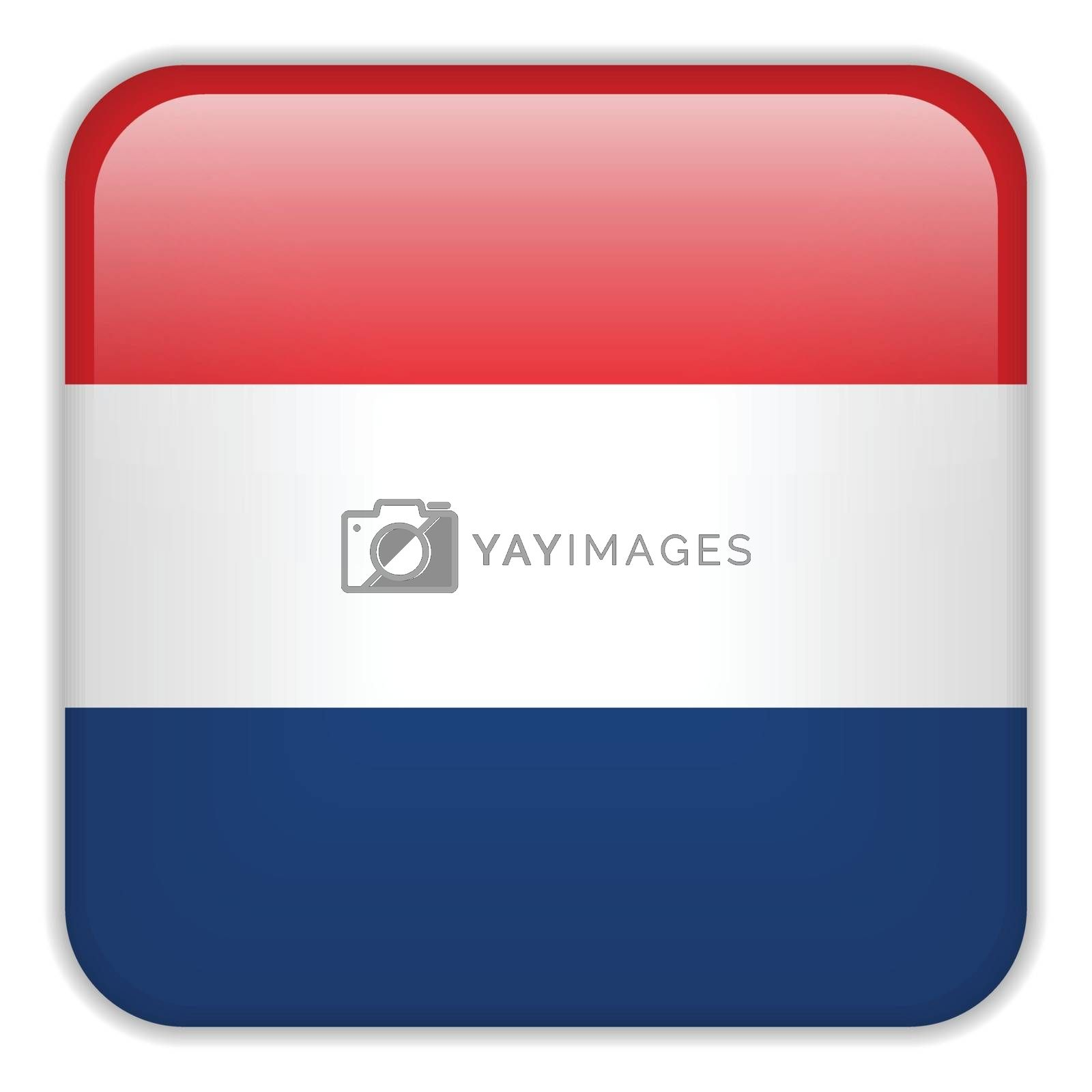 Vector - Netherlands Flag Smartphone Application Square Buttons