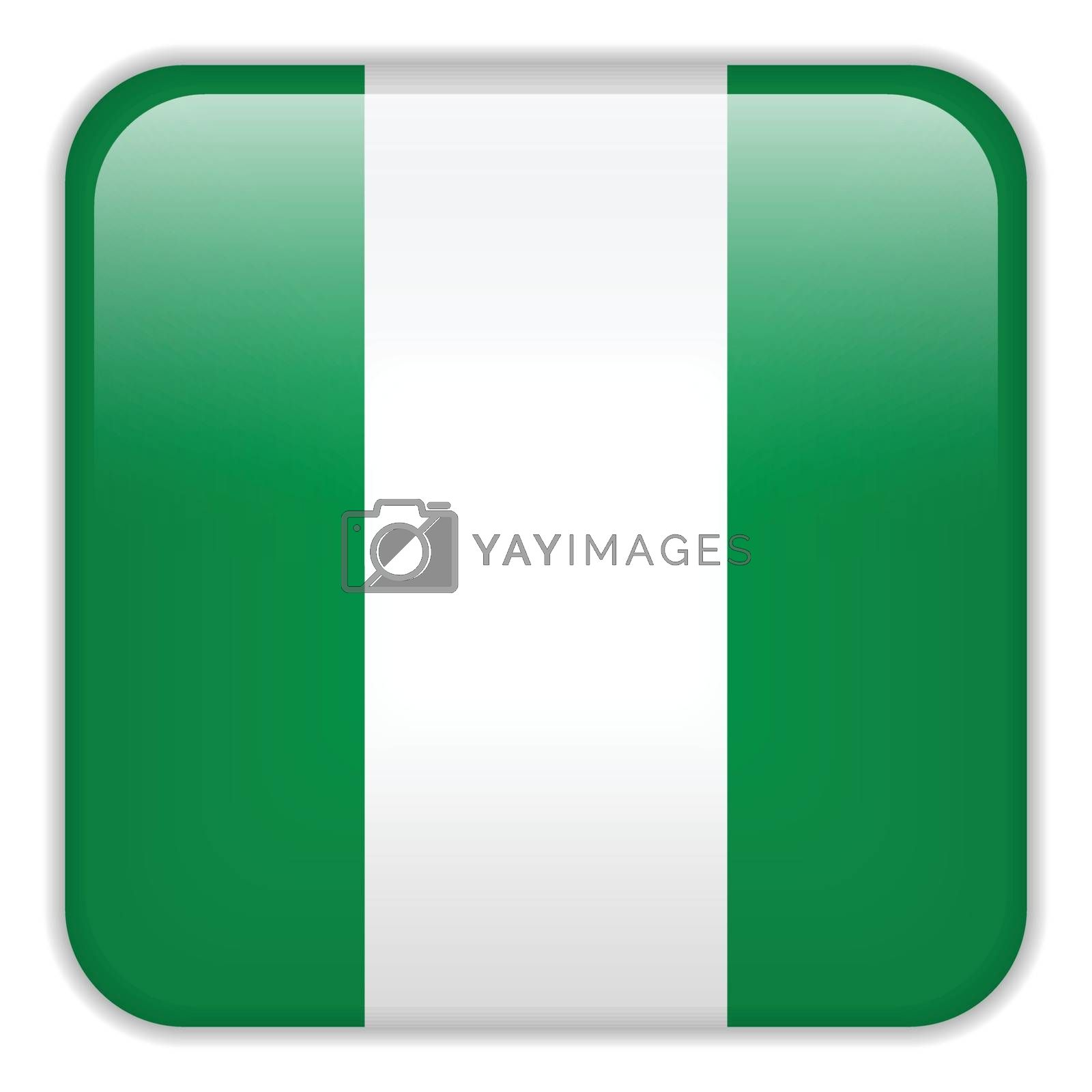 Vector - Nigeria Flag Smartphone Application Square Buttons