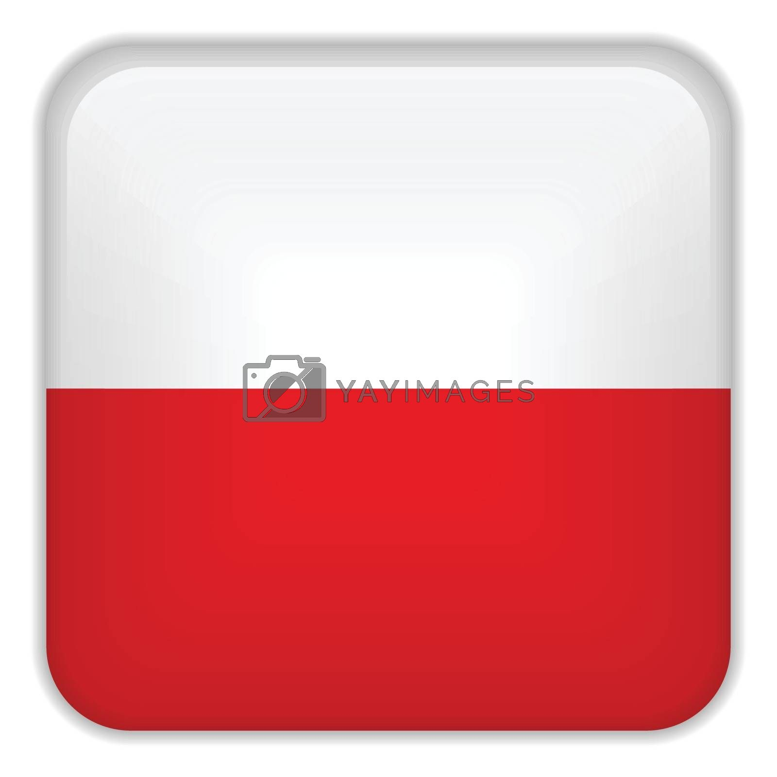 Vector - Poland Flag Smartphone Application Square Buttons