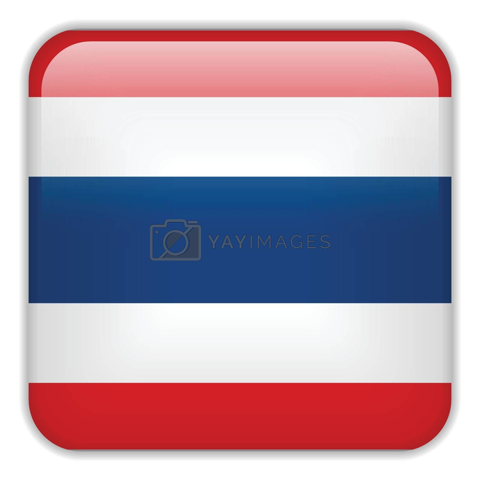 Vector - Thailand Flag Smartphone Application Square Buttons