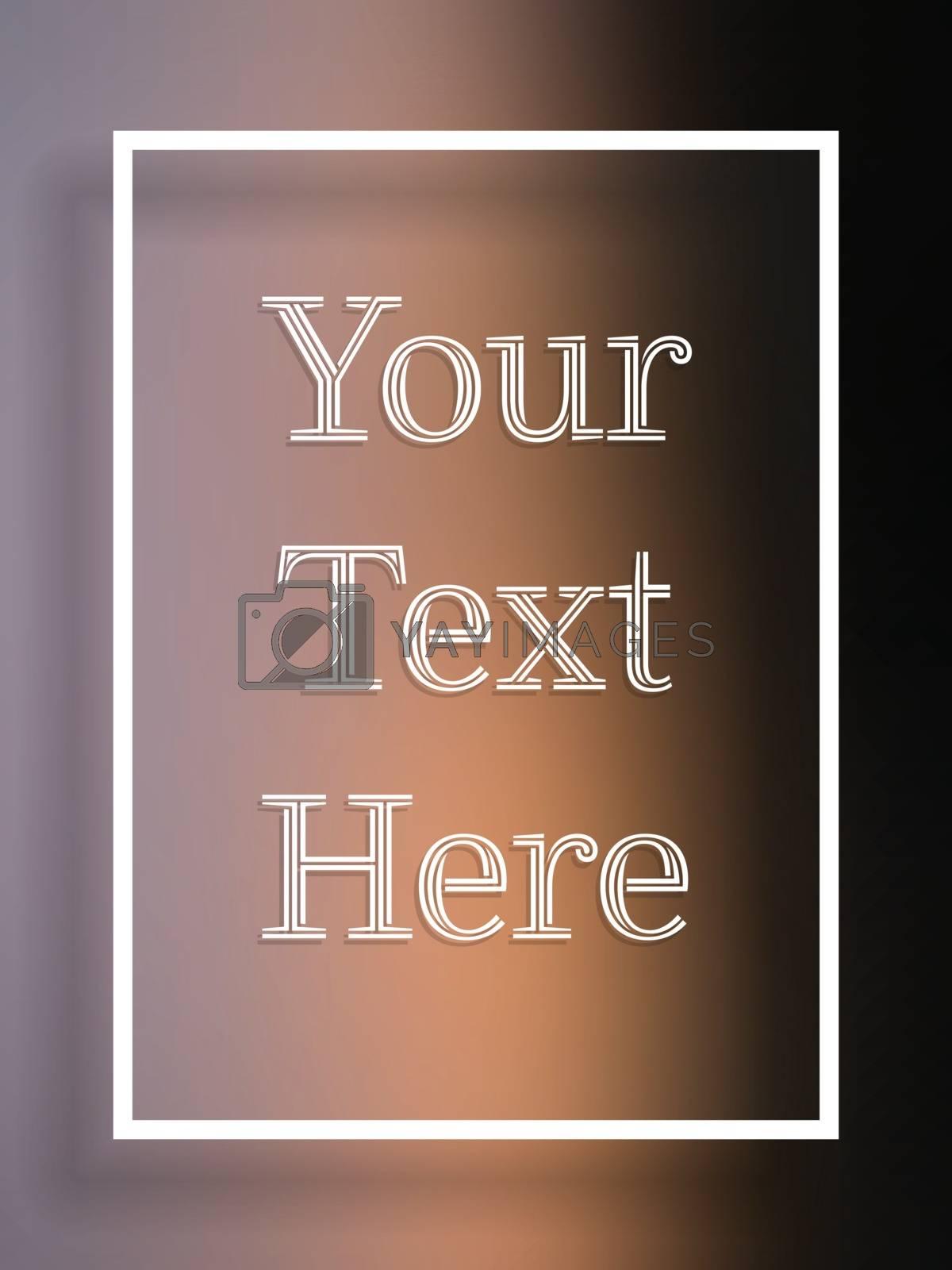 Vector - Blur text frame violet black and orange background