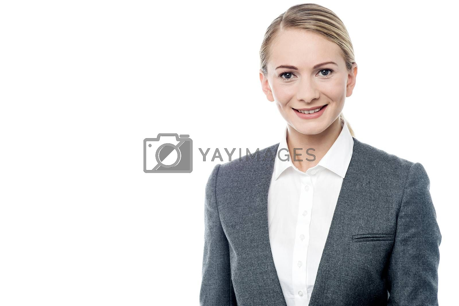 Royalty free image of Confident business woman over white by stockyimages