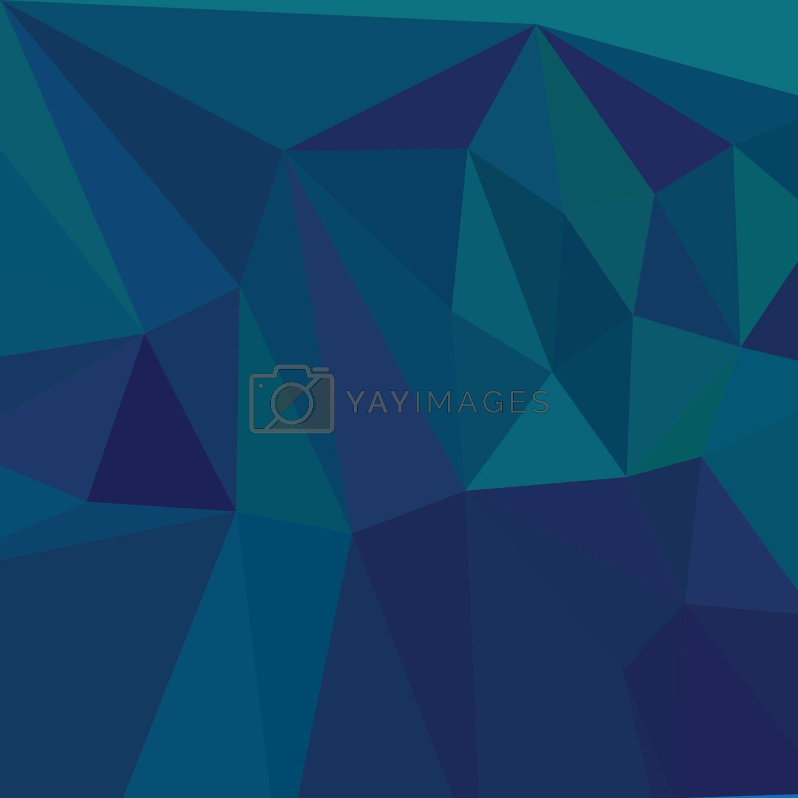 Low polygon style illustration of a medium teal blue abstract geometric background.