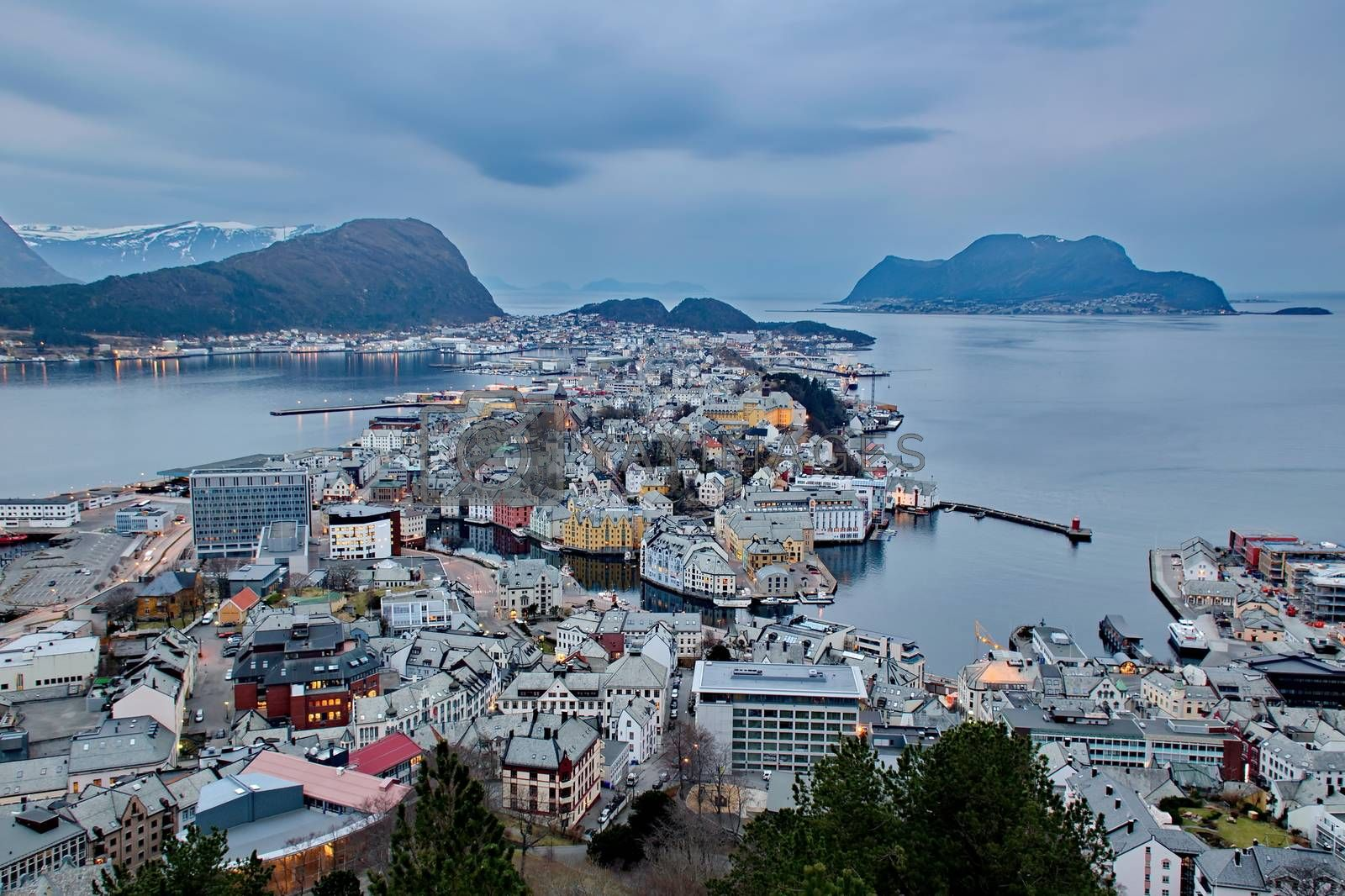 Royalty free image of City of Alesund in Norway by anderm