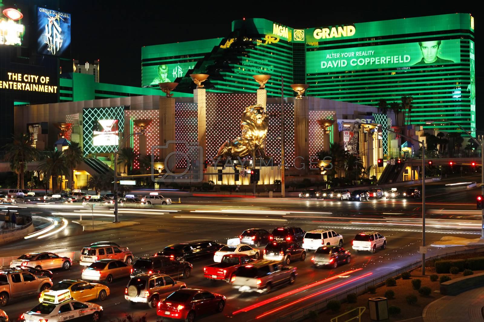 LAS VEGAS, NEVADA - September 19, 2011: MGM Grand Hotel on the strip on September 19, 2011 in Las Vegas, Nevada.
