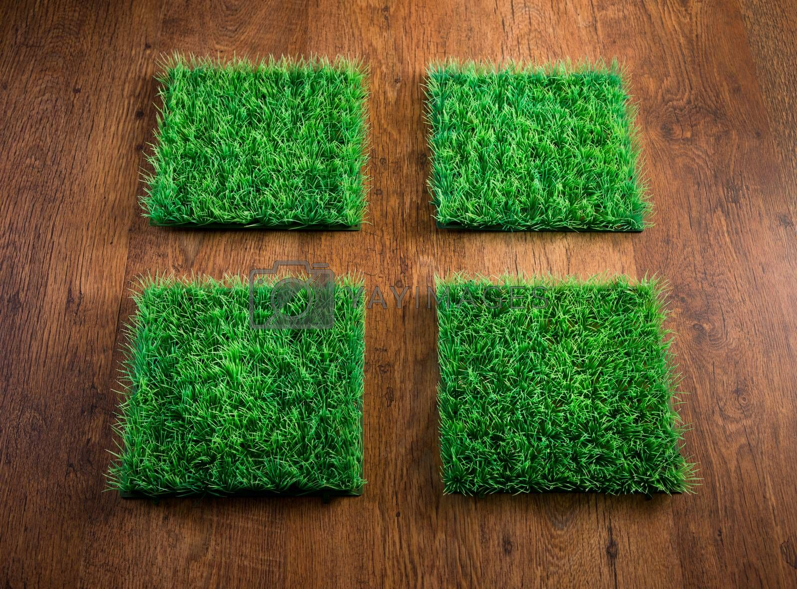 Artificial turf tiles by stokkete