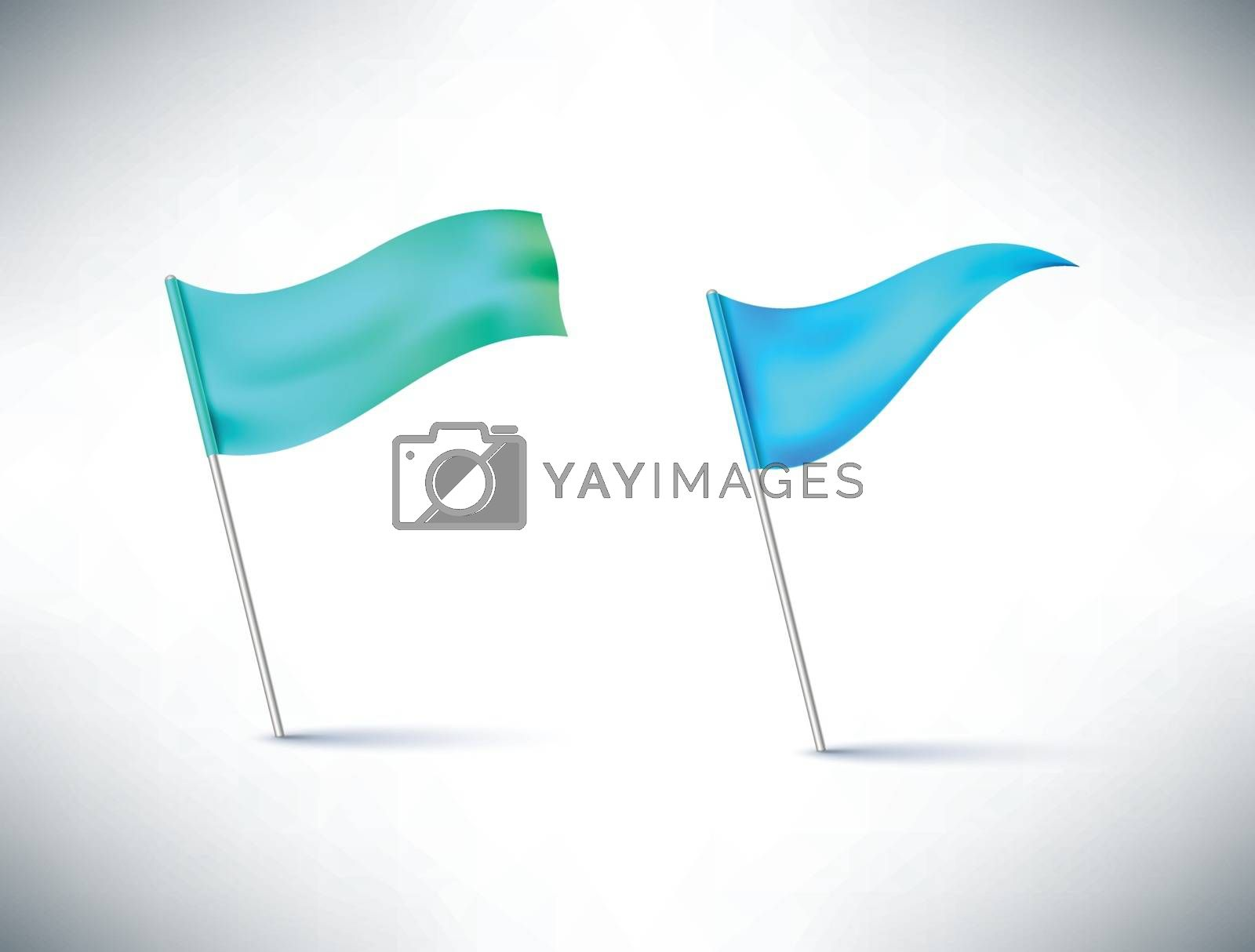 flags isolated on white background vector illustration