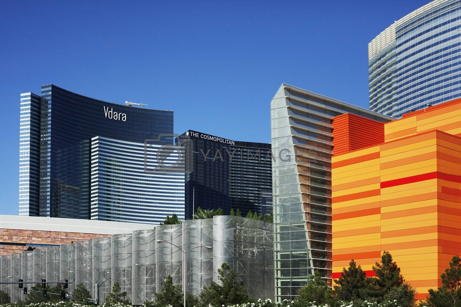 Las Vegas, Nevada, USA - September 19, 2011: East tower of the Cosmopolitan luxury resort casino and hotel in Las Vegas. Cosmopolitan features two 50-story towers overlooking the heart of the Las Vegas Strip.