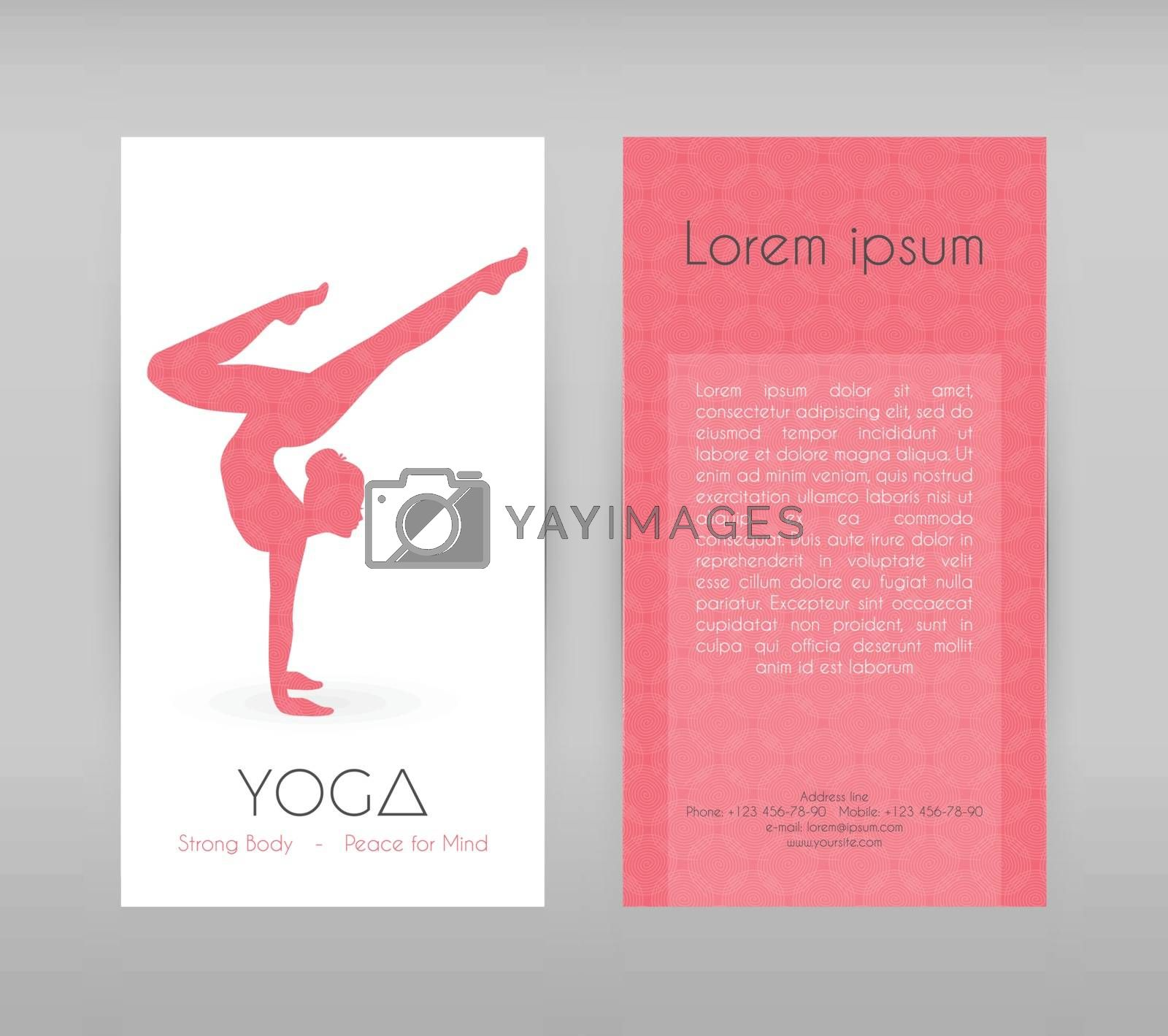 Vector illustration of Woman doing yoga asanas