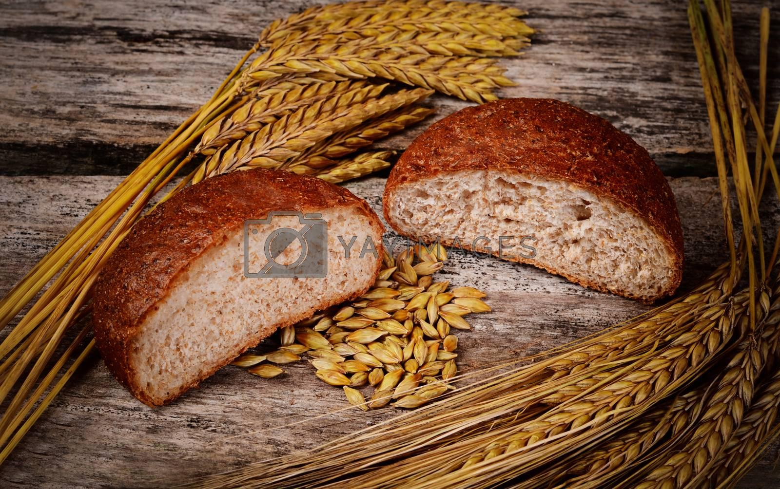 Fresh bread with ears a rye by SvetaVo