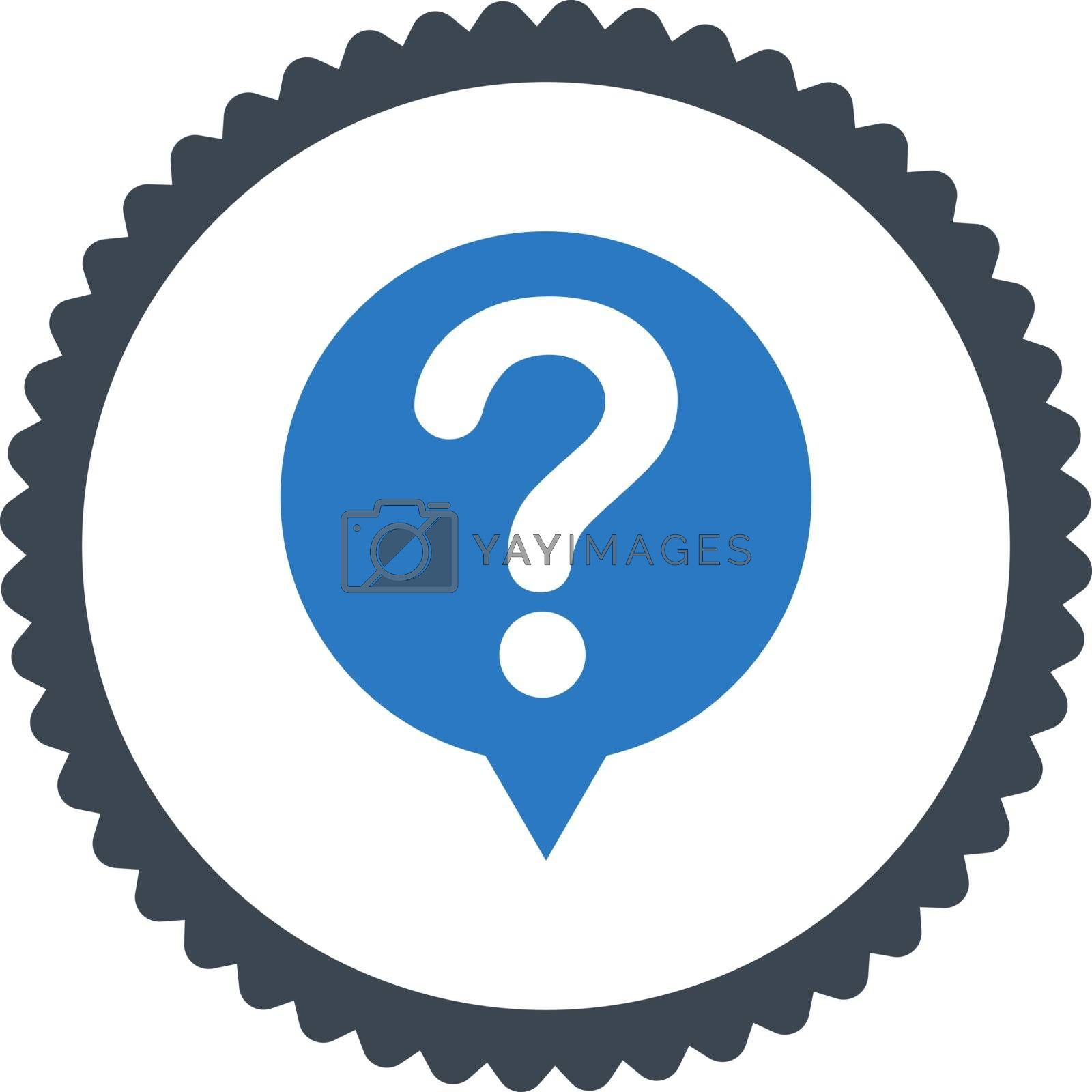 Status flat smooth blue colors round stamp icon by Aha-Soft