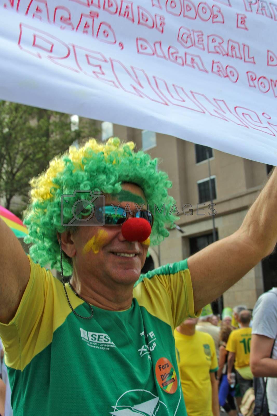 Protest against federal government corruption in Brazil by marphotography