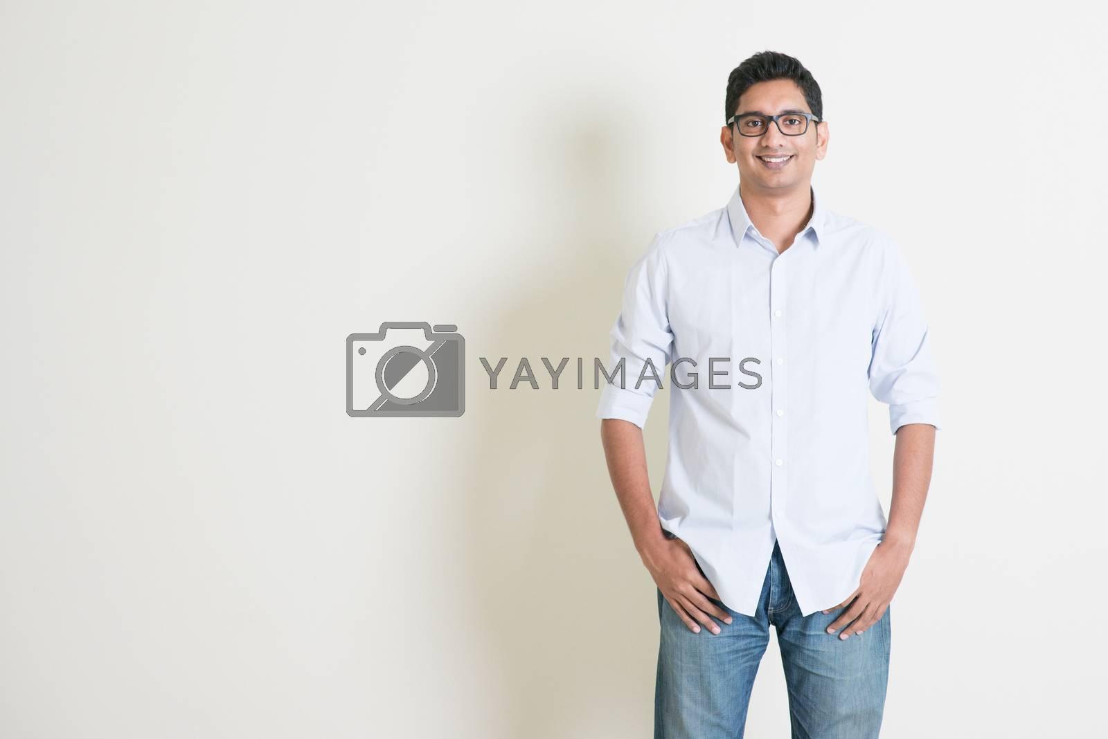 Casual business Indian male portrait by szefei