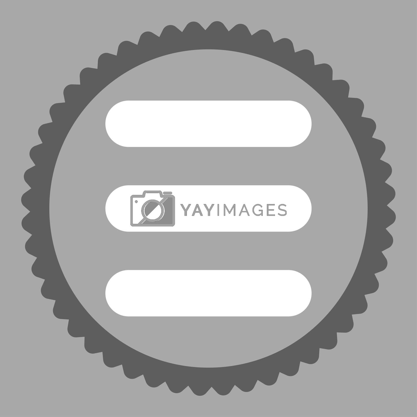 Stack flat dark gray and white colors round stamp icon by Aha-Soft
