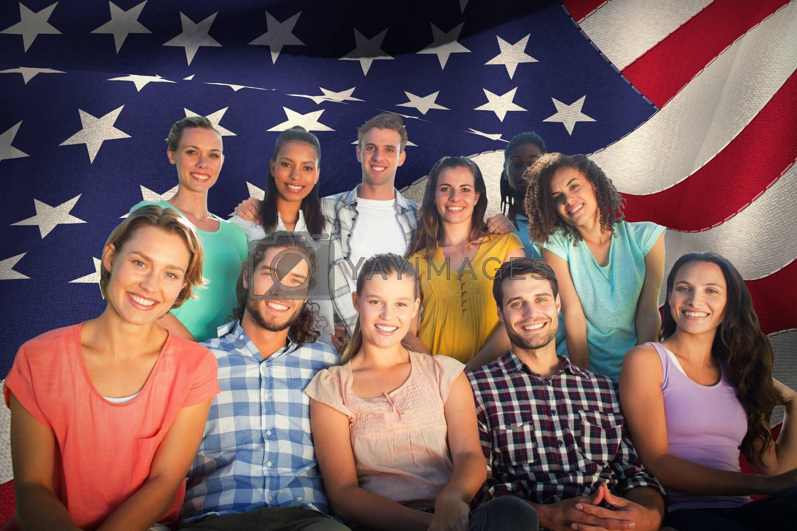 Royalty free image of Composite image of friends smiling at camera by Wavebreakmedia