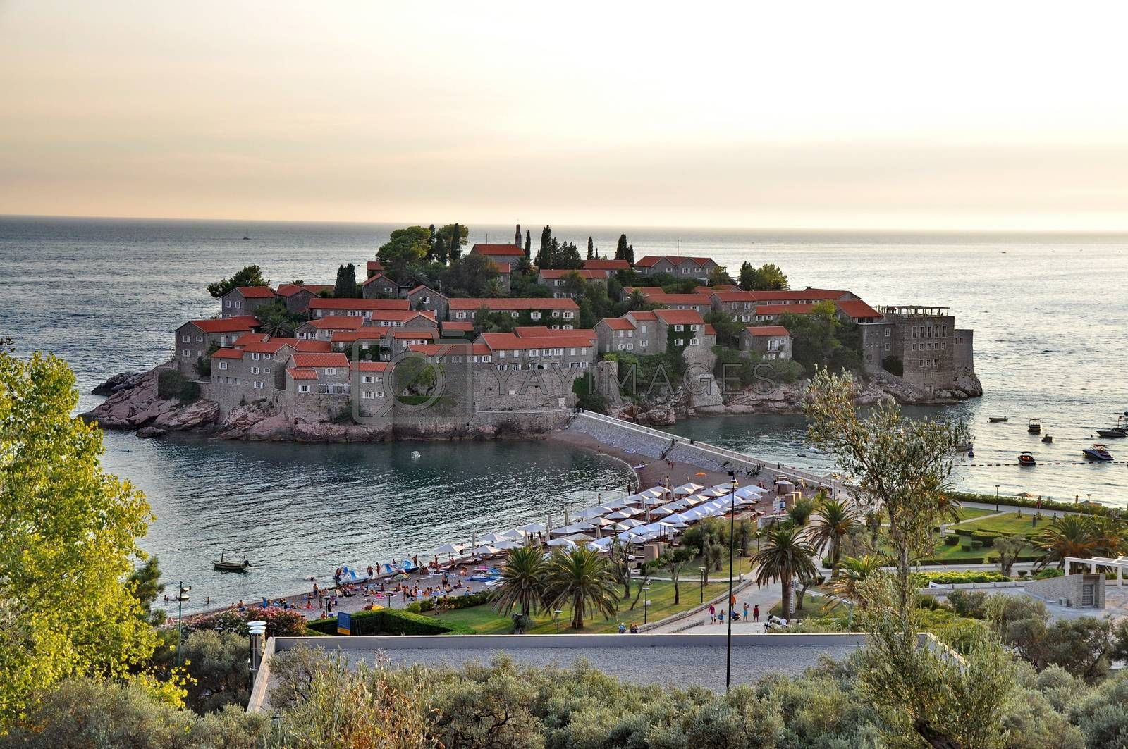 Royalty free image of Old town of Sveti Stefan in Montenegro by anderm