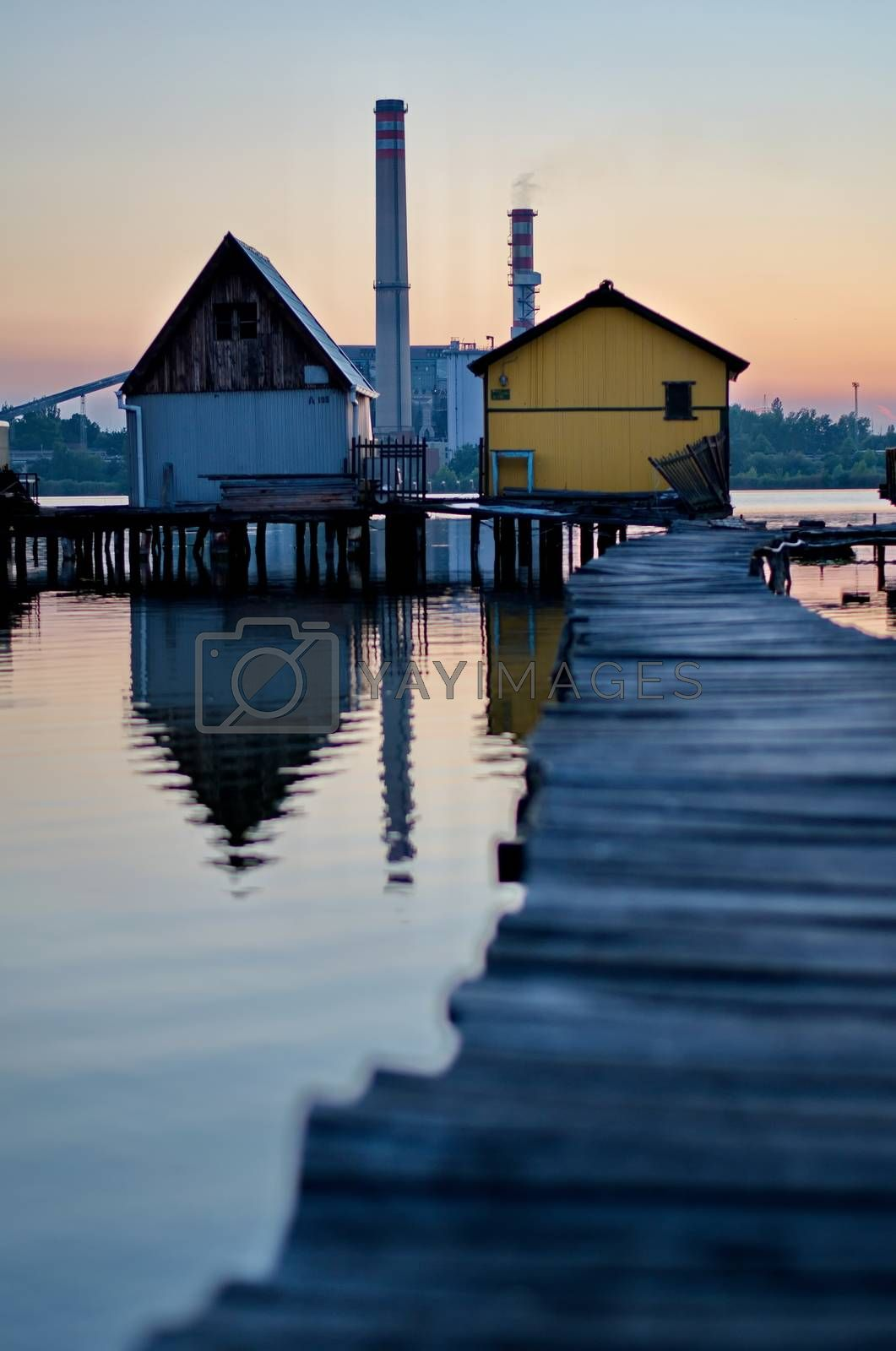Royalty free image of Floating village in Bokod, Hungary by anderm