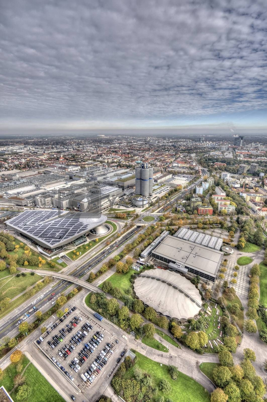 Royalty free image of Munich Olympiapark from the TV tover by anderm
