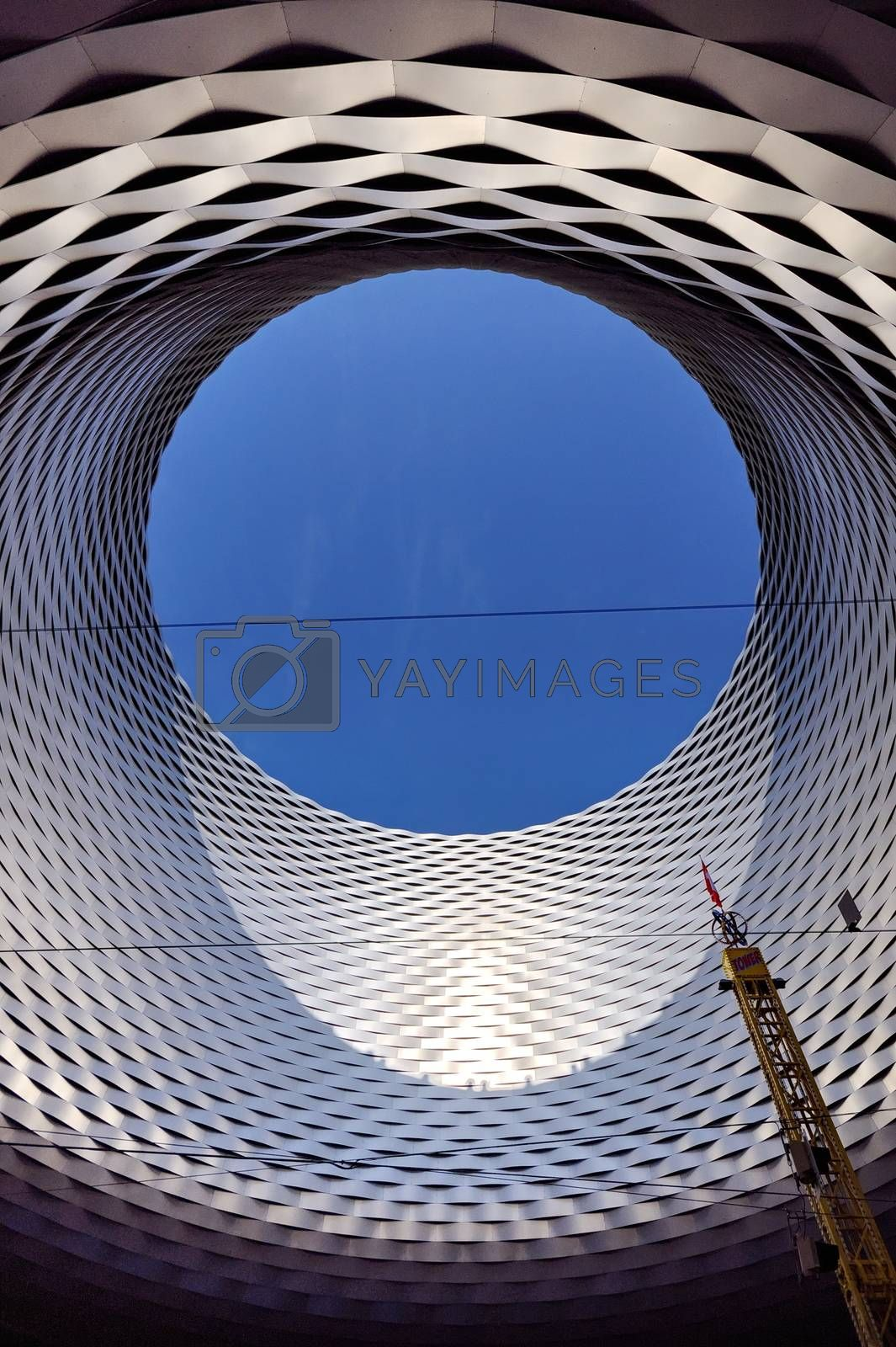 Royalty free image of BASEL, SWITZERLAND - NOVEMBER 01 2014: Exhibition Center in the  by anderm