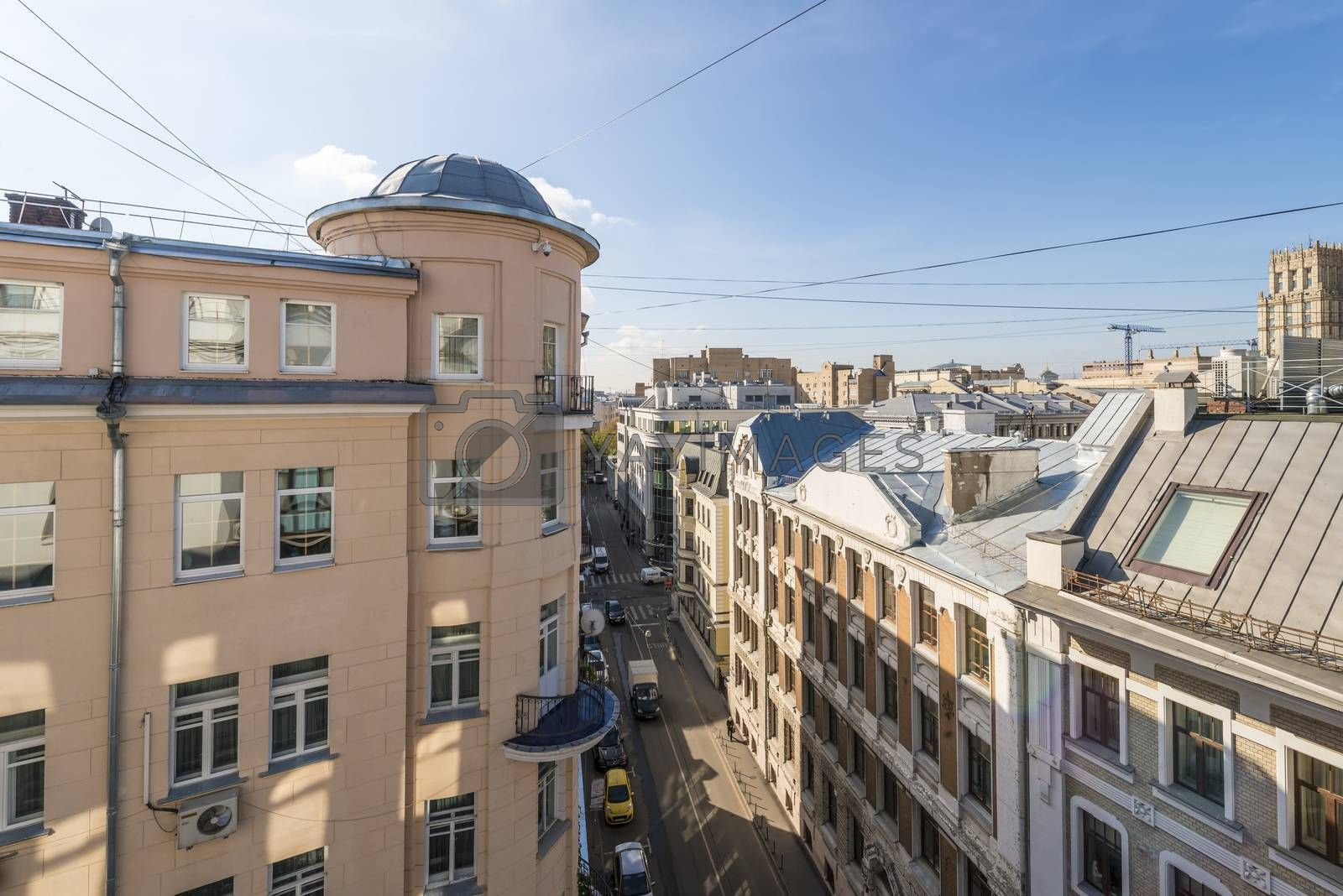 Houses and streets of the historical center of Moscow