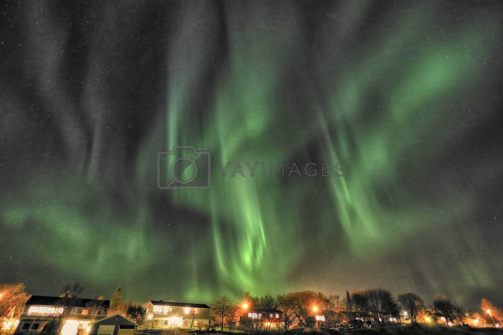 aurora Borealis fra Salhus i Brønnøy kommune
