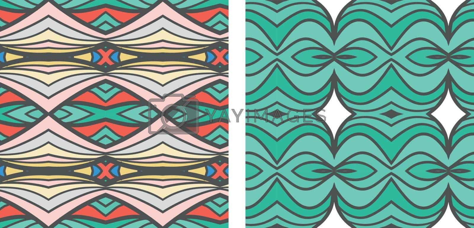 Abstract seamless ornament pattern. the kaleidoscope effect. Ethnic damask motif. Vintage style pattern. Vector illustration
