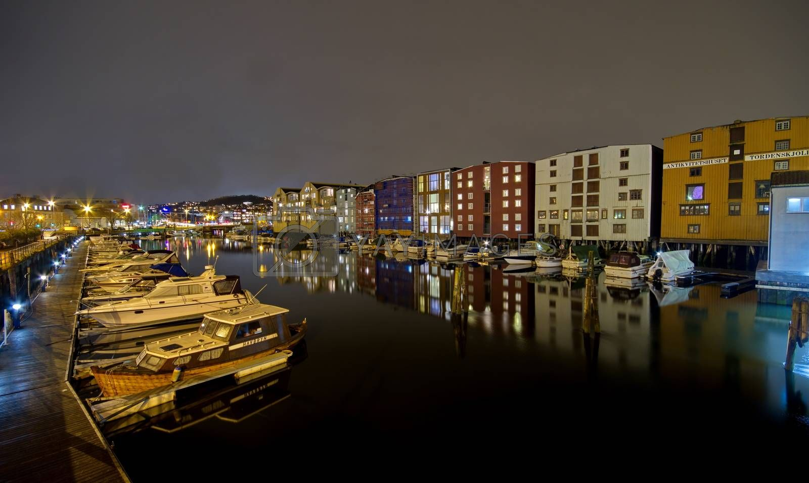 Royalty free image of Ships in the port of Trondheim, Norway by anderm