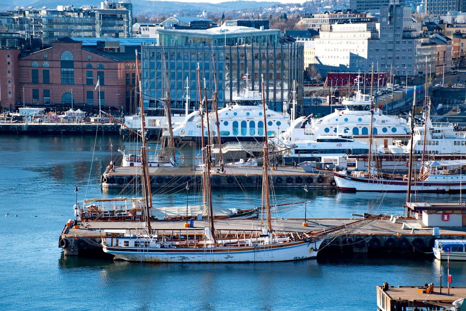 Royalty free image of Harbour of Oslo, Norway by anderm