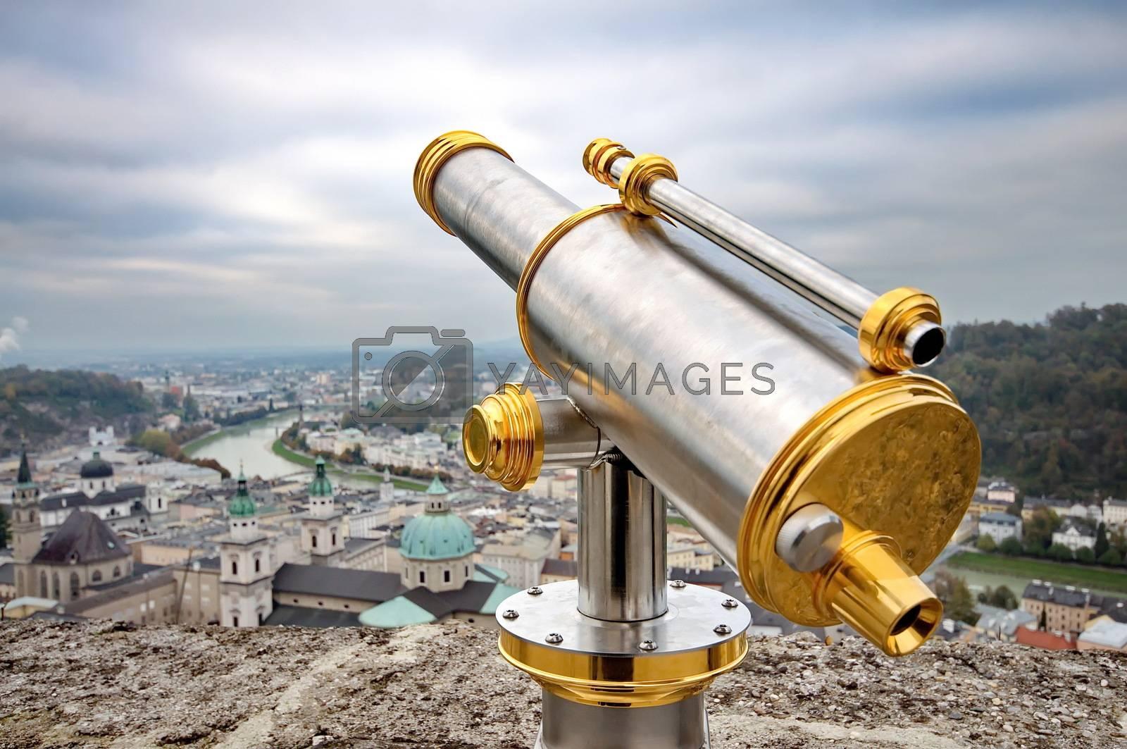 Royalty free image of Tourist binoculars in Salzburg, Austira by anderm
