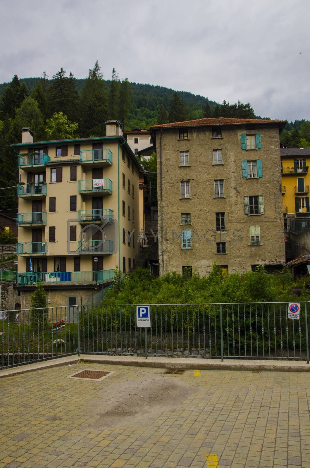 Ponte di Legno- Italy. Streets and homes