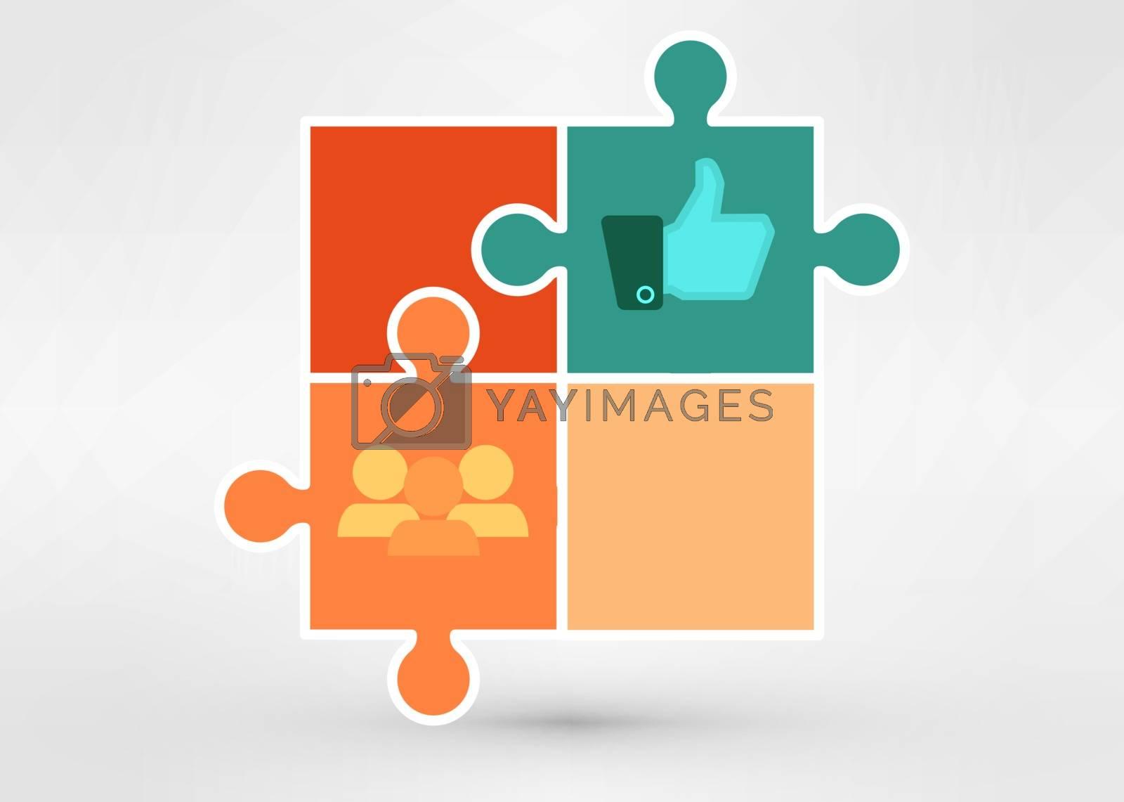 modern presentation diagramm vector eps 10 illustration