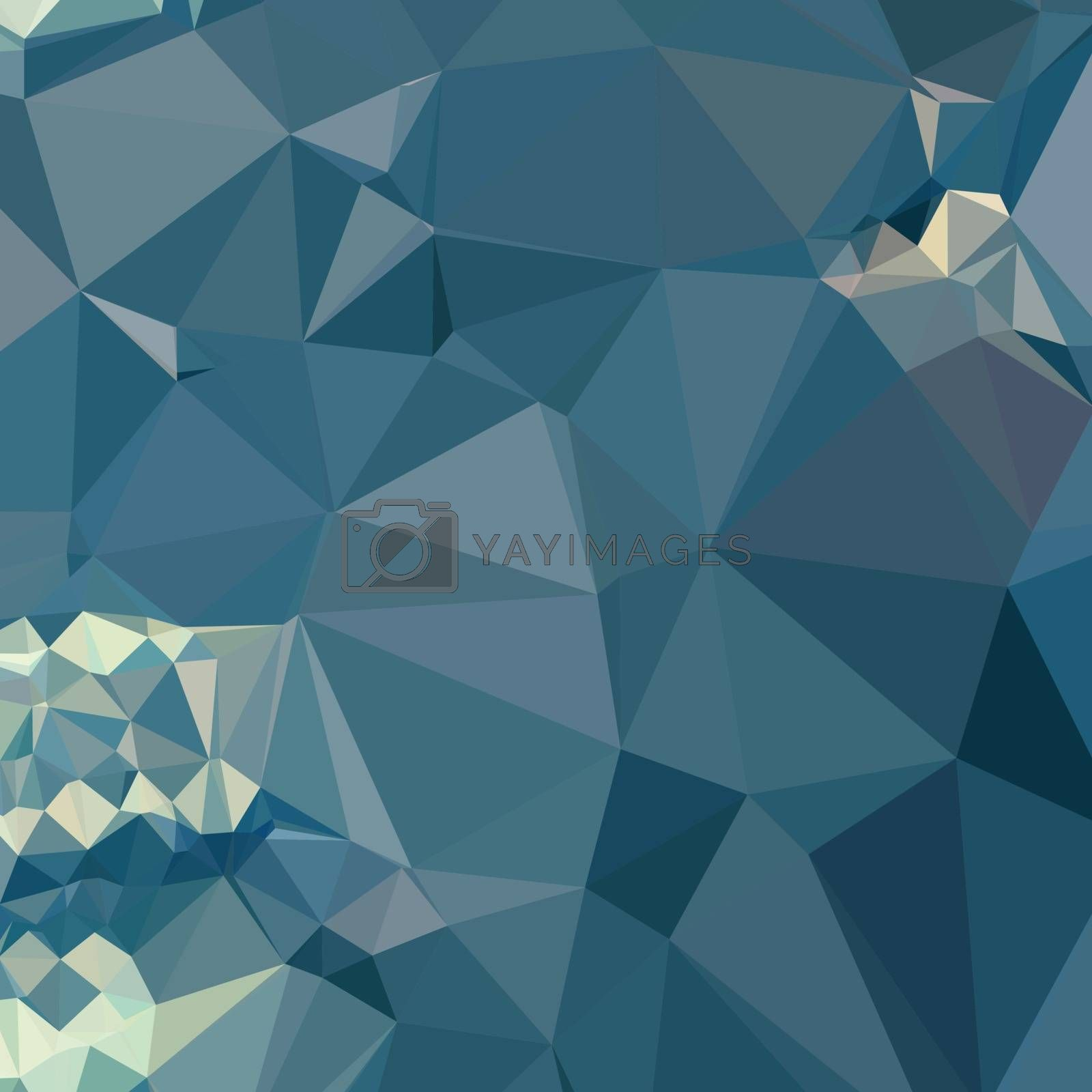 Low polygon style illustration of a cadet blue abstract geometric background.