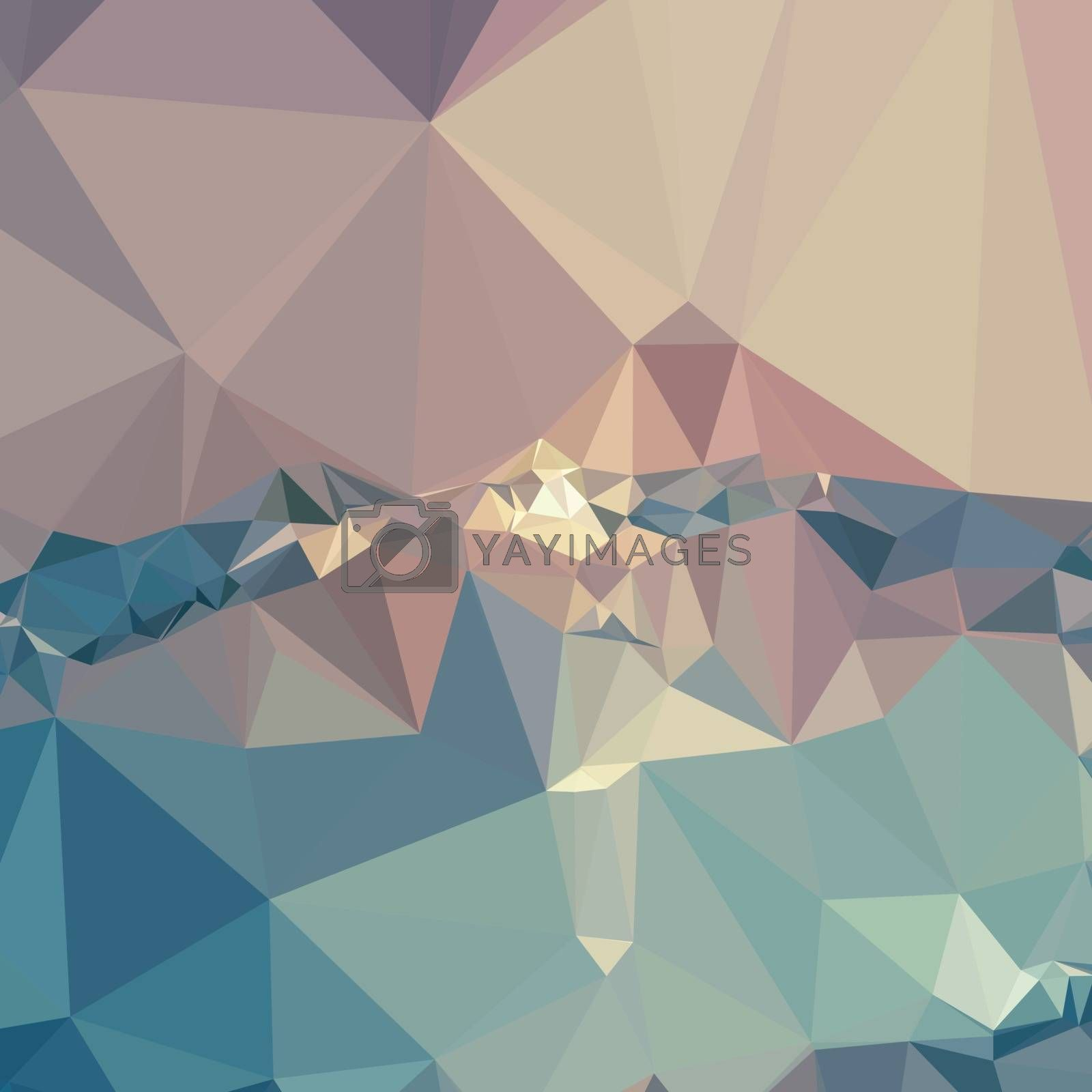 Low polygon style illustration of opera mauve abstract geometric background.