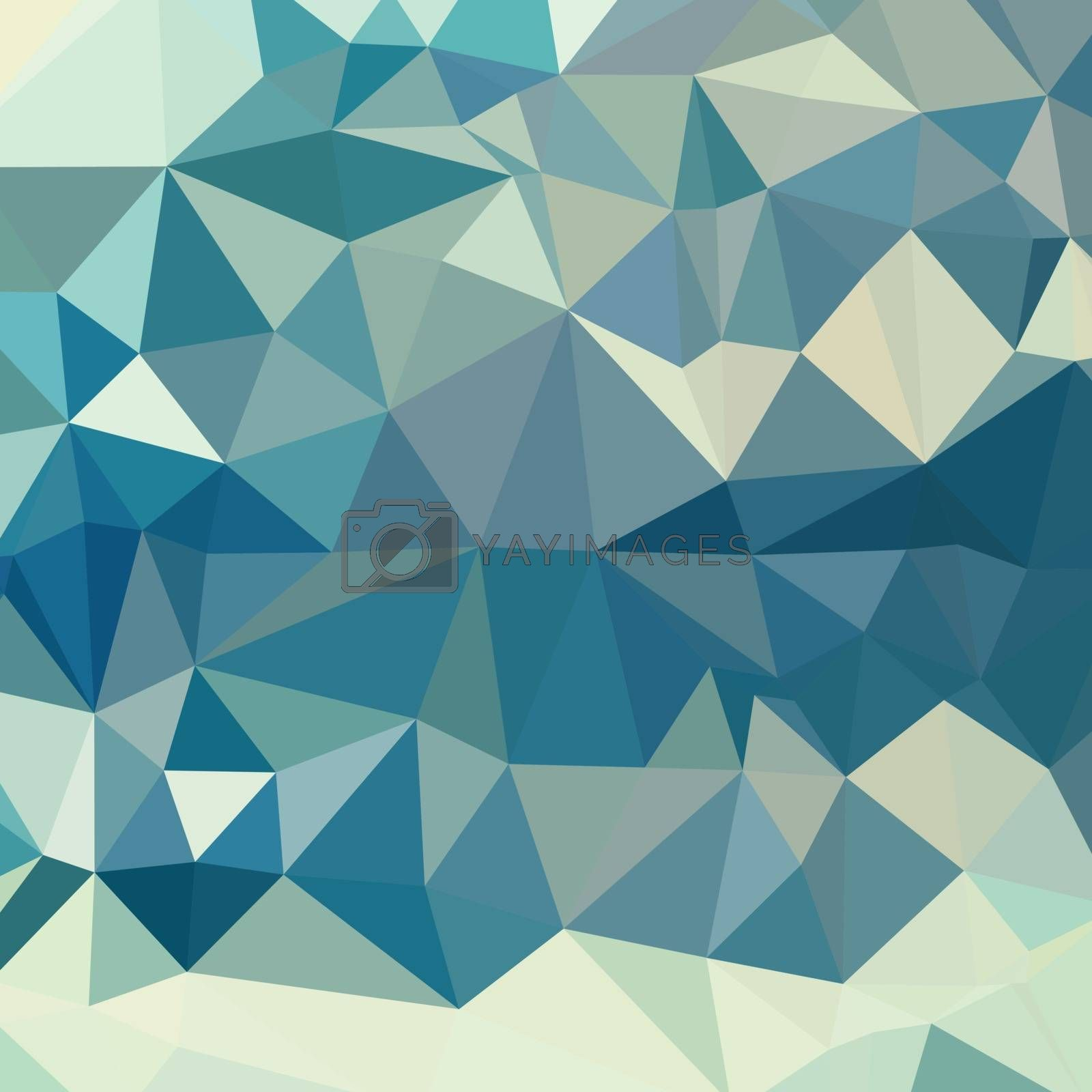 Low polygon style illustration of a skobeloff green abstract geometric background.