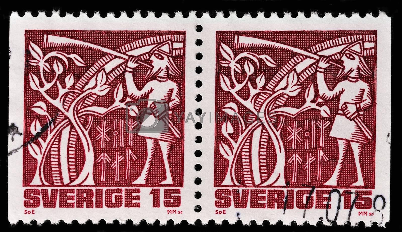 SWEDEN - CIRCA 1981: stamp printed by Sweden, shows Frey, circa 1981