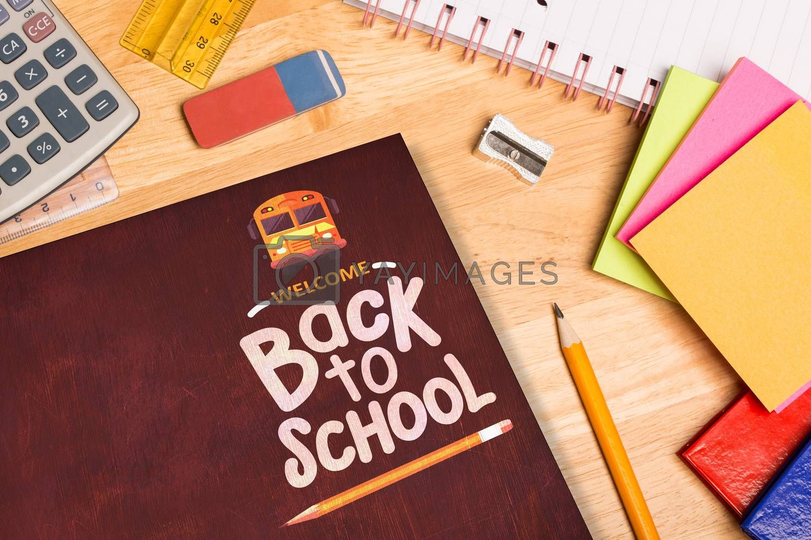 back to school against students desk