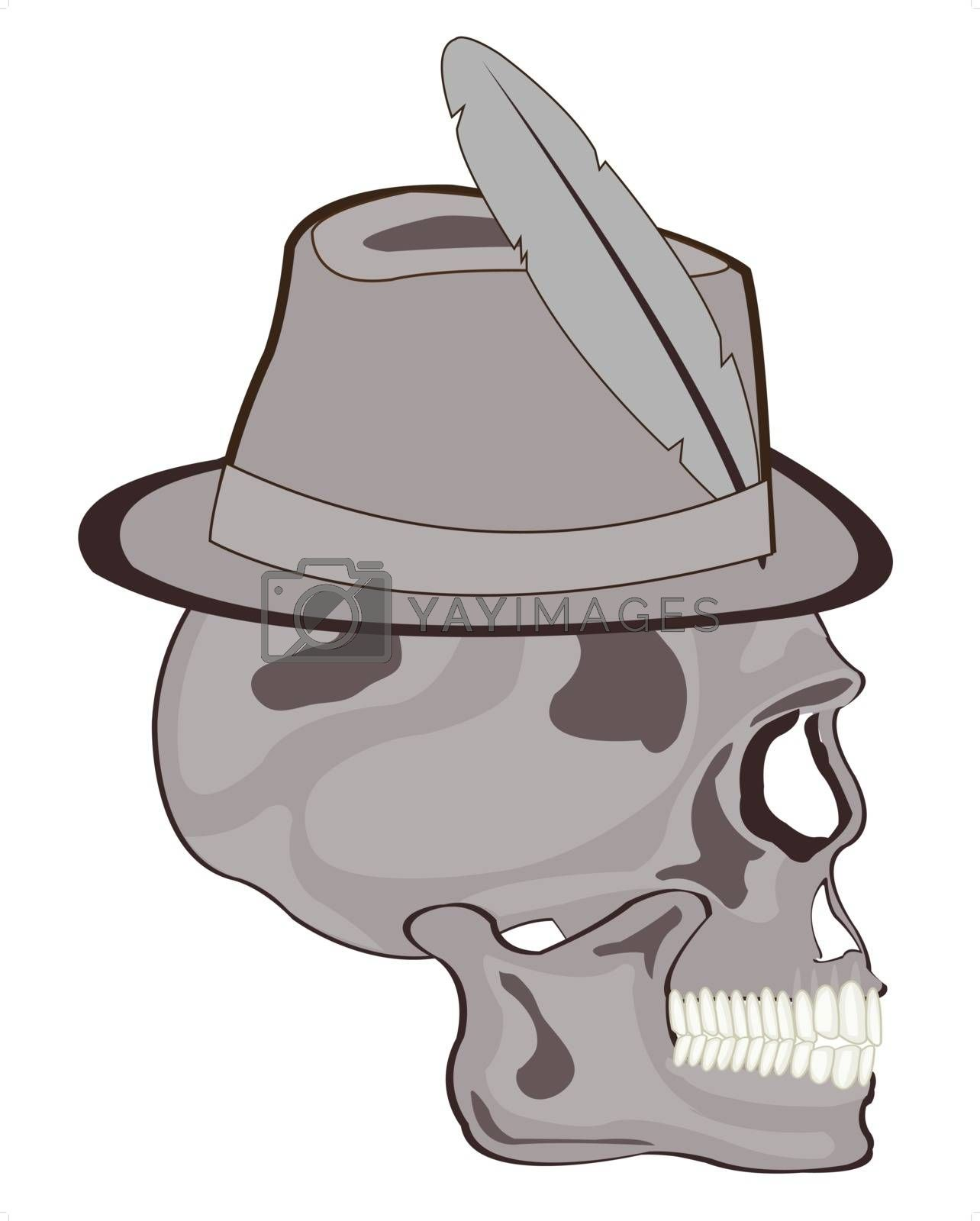 Royalty free image of Skull in hat by cobol1964