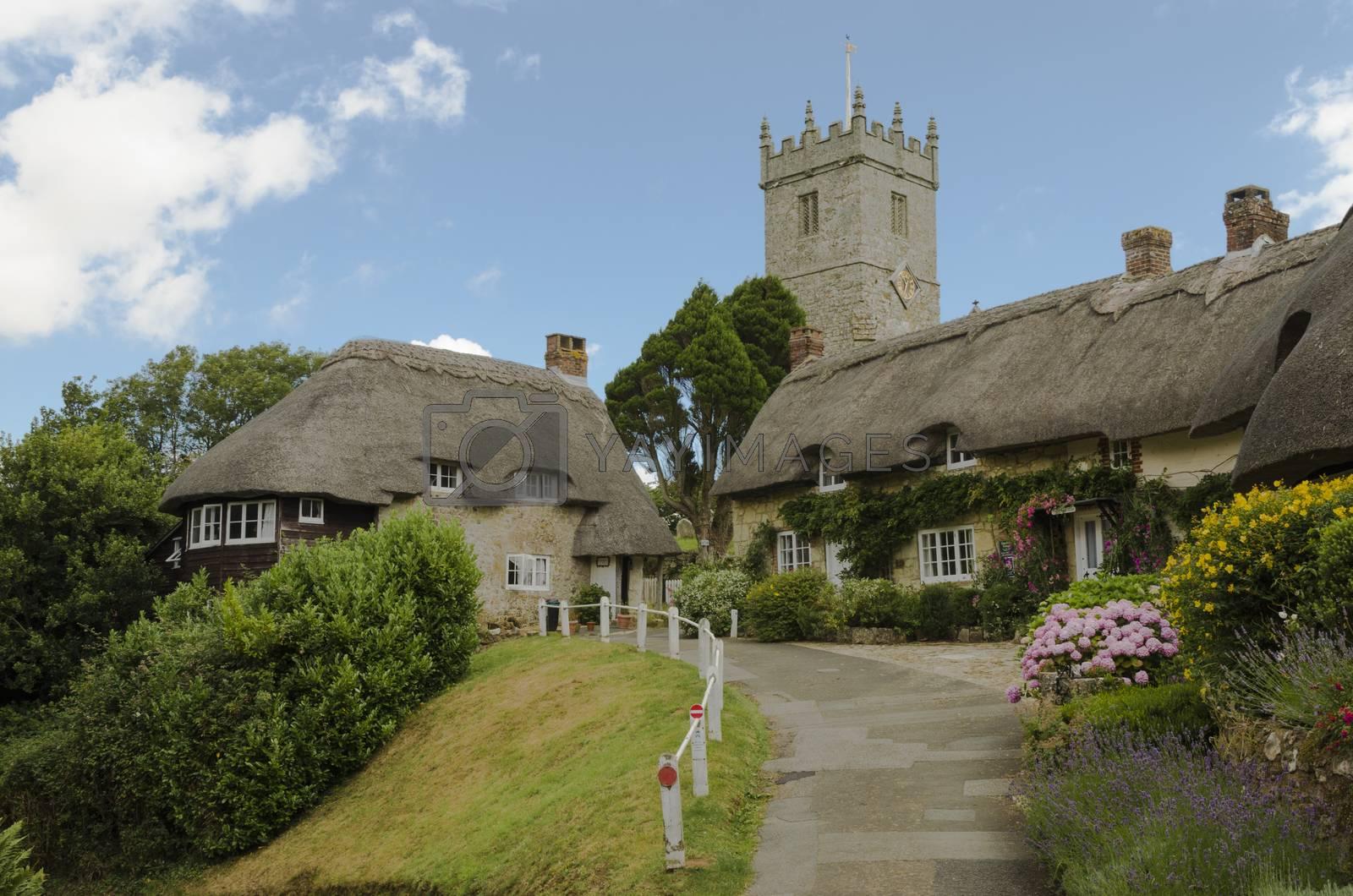 Royalty free image of Church Hill, Godshill, Isle of Wight by JohnDavidPhoto