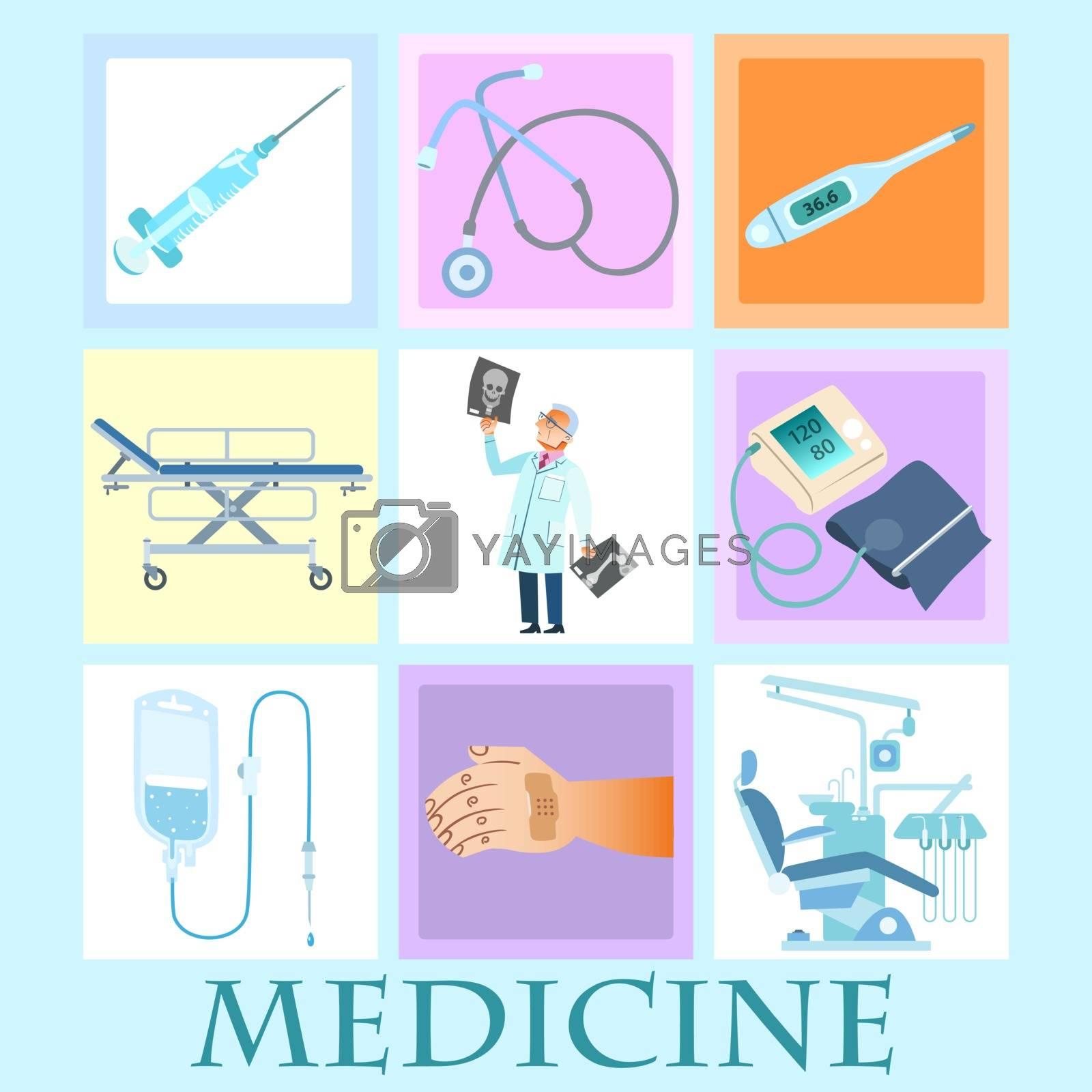 Royalty free image of set health medicine by studiostoks