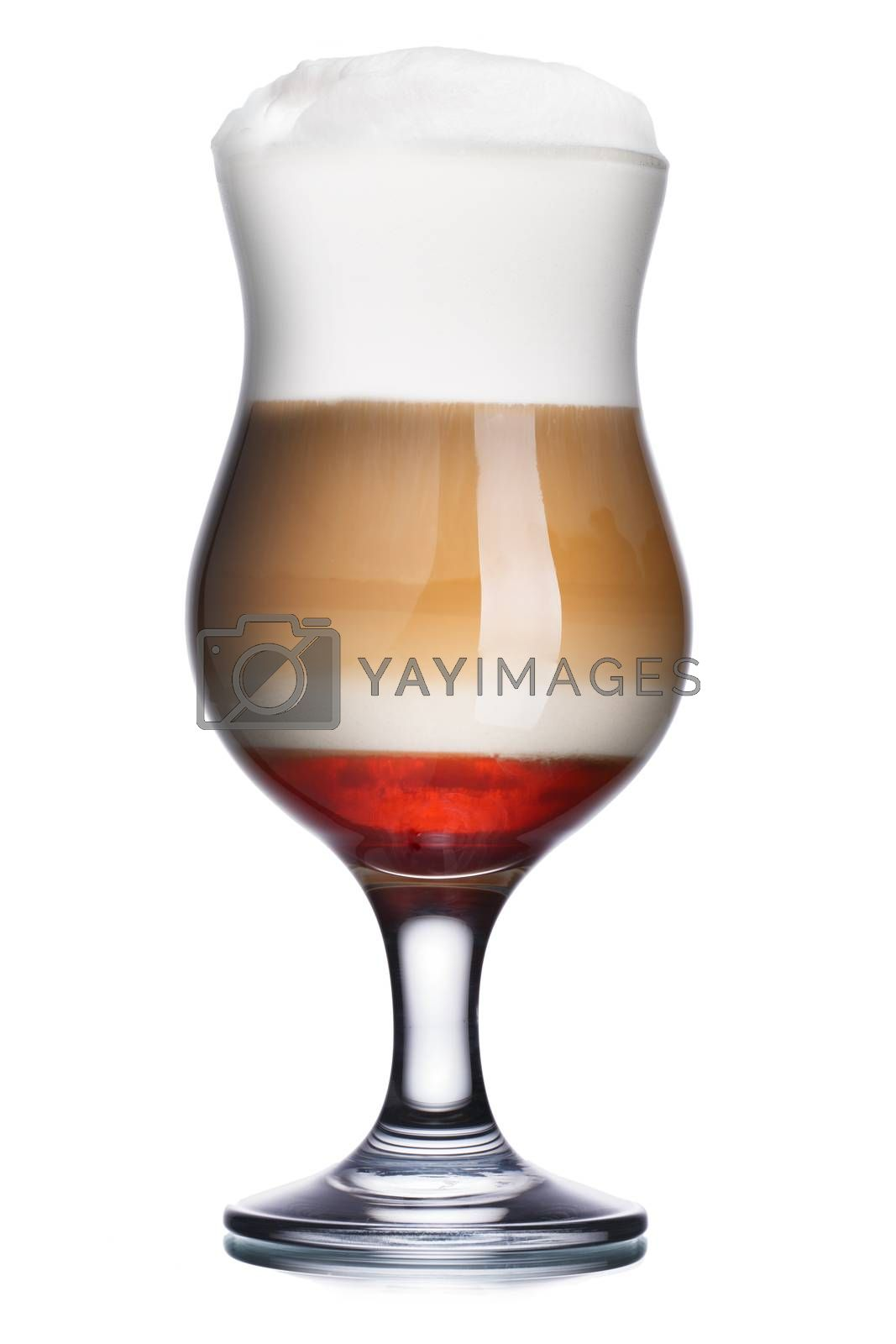 Royalty free image of Coffec cocktail with raspberry syrup by maxsol
