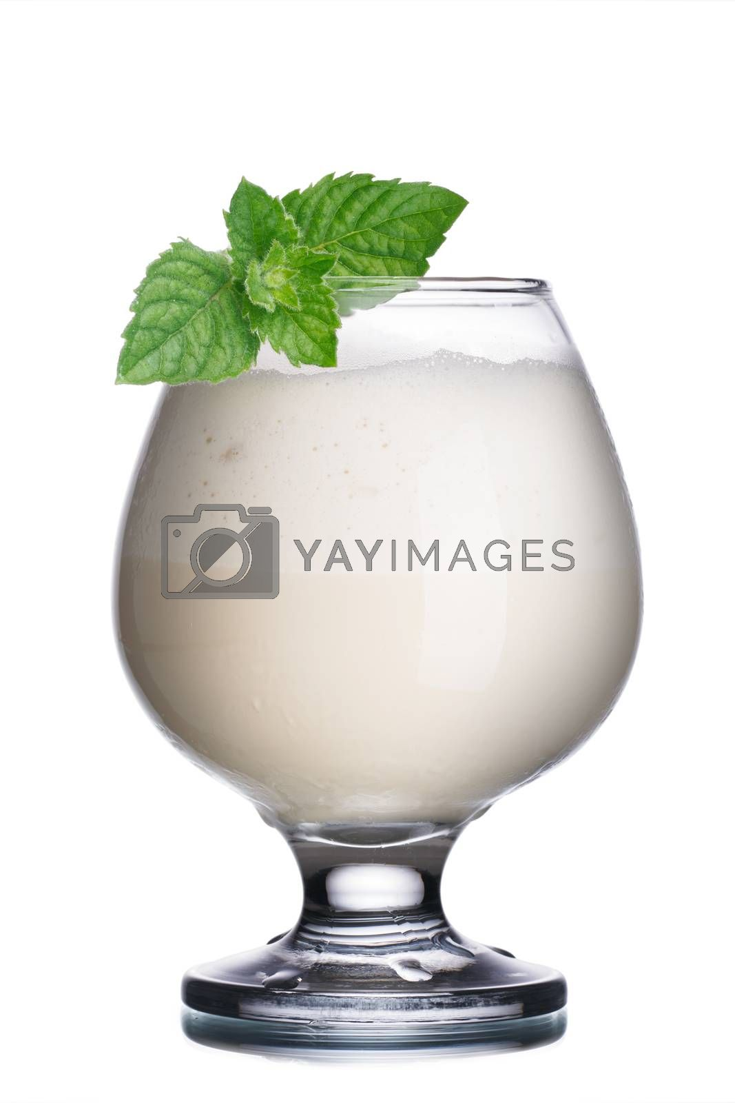 Royalty free image of Coffee cocktail with liqueur by maxsol