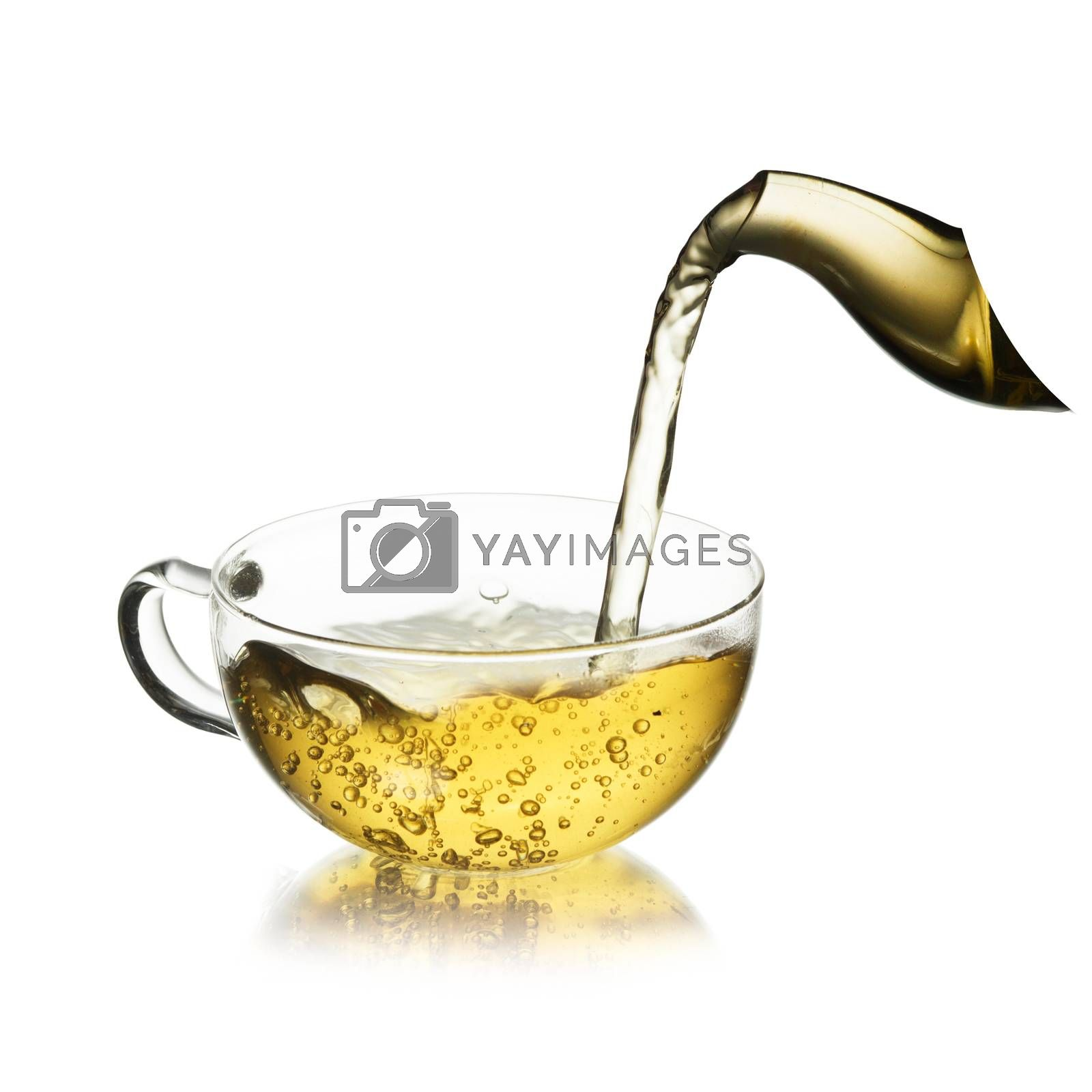 Royalty free image of Cup of  tea with splash by maxsol