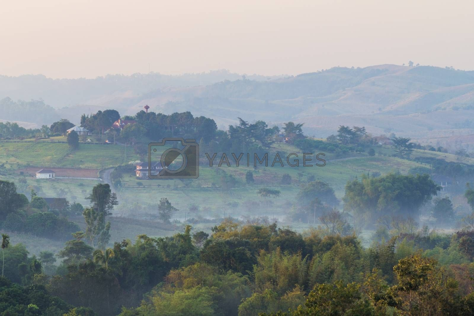 Royalty free image of home in mountains by kritsada1992